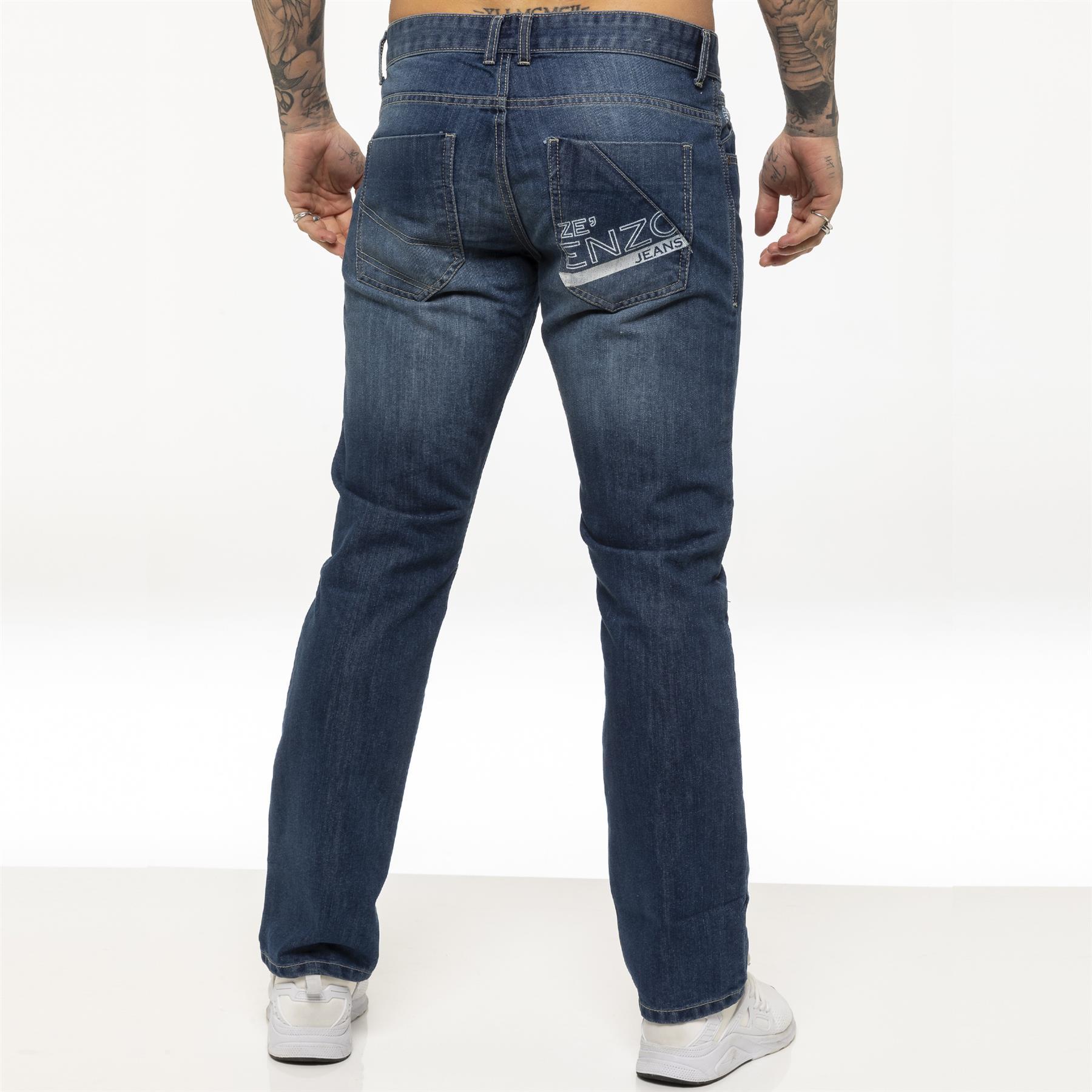 miniature 12 - Enzo pour homme coupe droite regular leg homme travail Denim Pantalon Toutes Tailles Tailles
