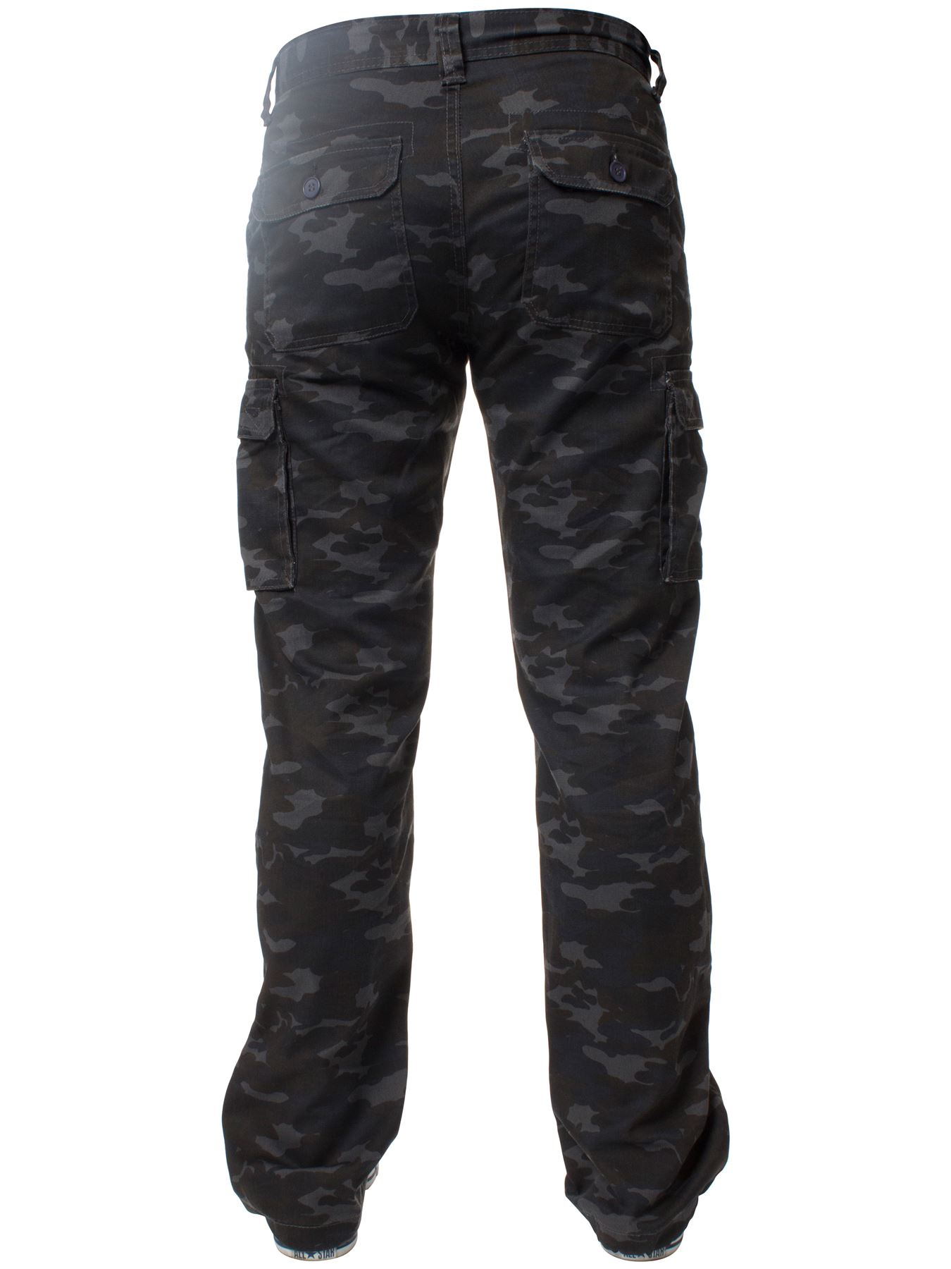 Kruze-Mens-Military-Combat-Trousers-Camouflage-Cargo-Camo-Army-Casual-Work-Pants miniatura 35