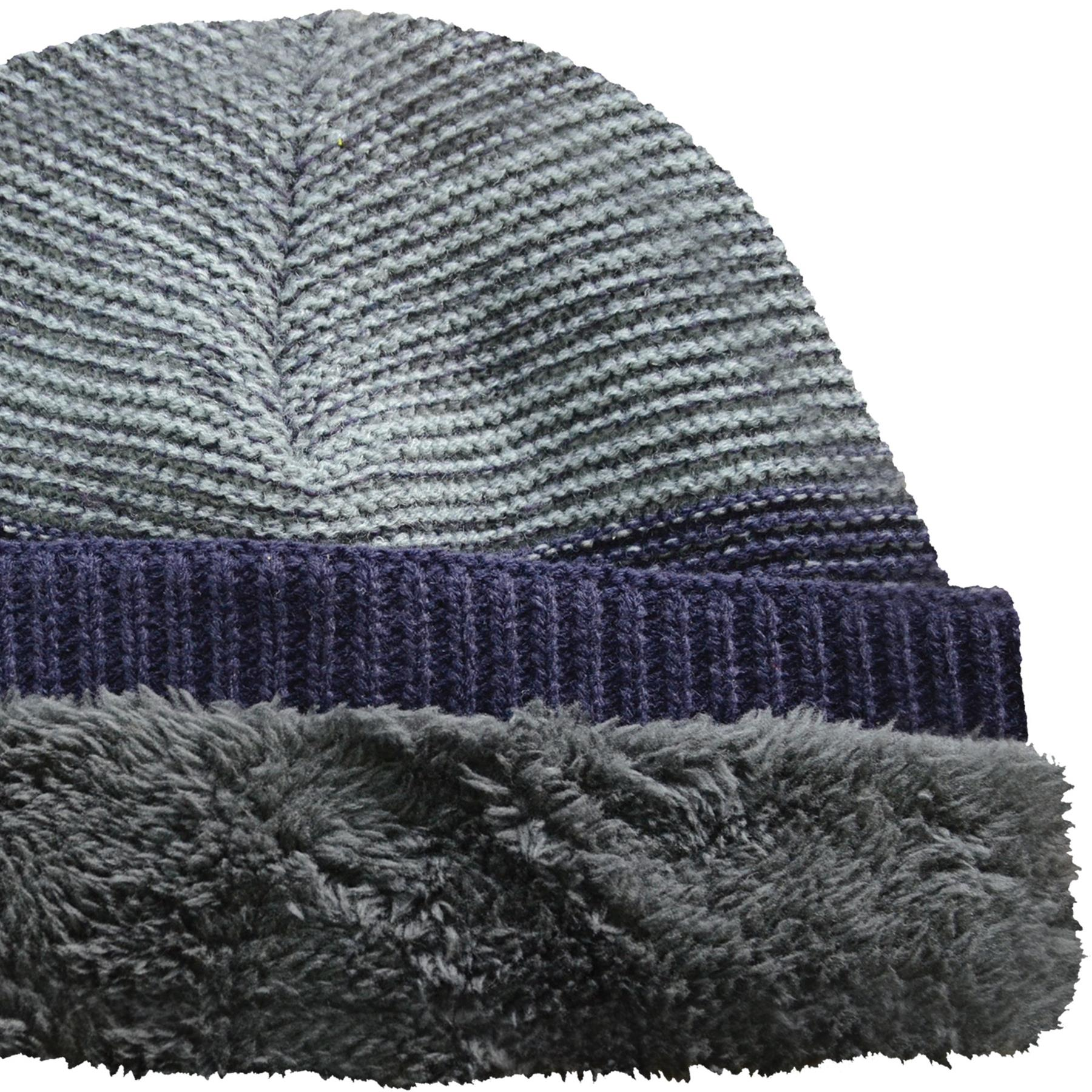 Men/'s Knitted Thermal Insulated Beanies Wooly Outdoor Chunky Hat for Winter