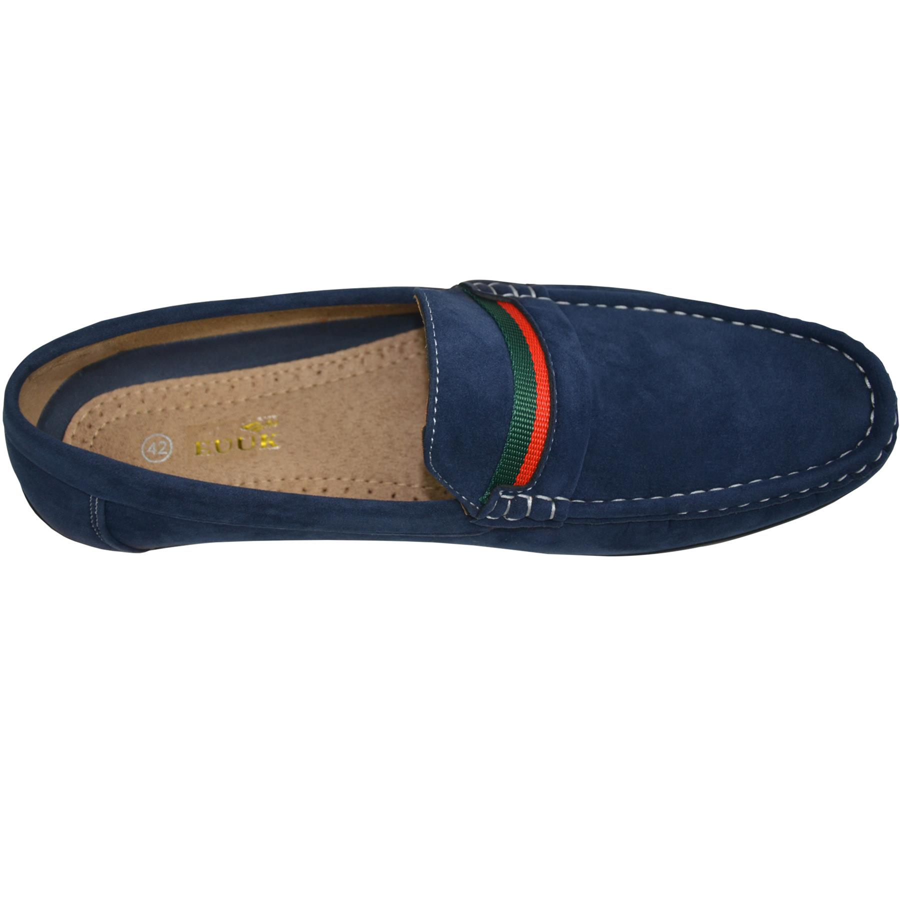 Mens-Slip-Ons-Shoes-Boat-Deck-Driving-Smart-Buckle-Moccasins-Suede-Look-Loafers thumbnail 36