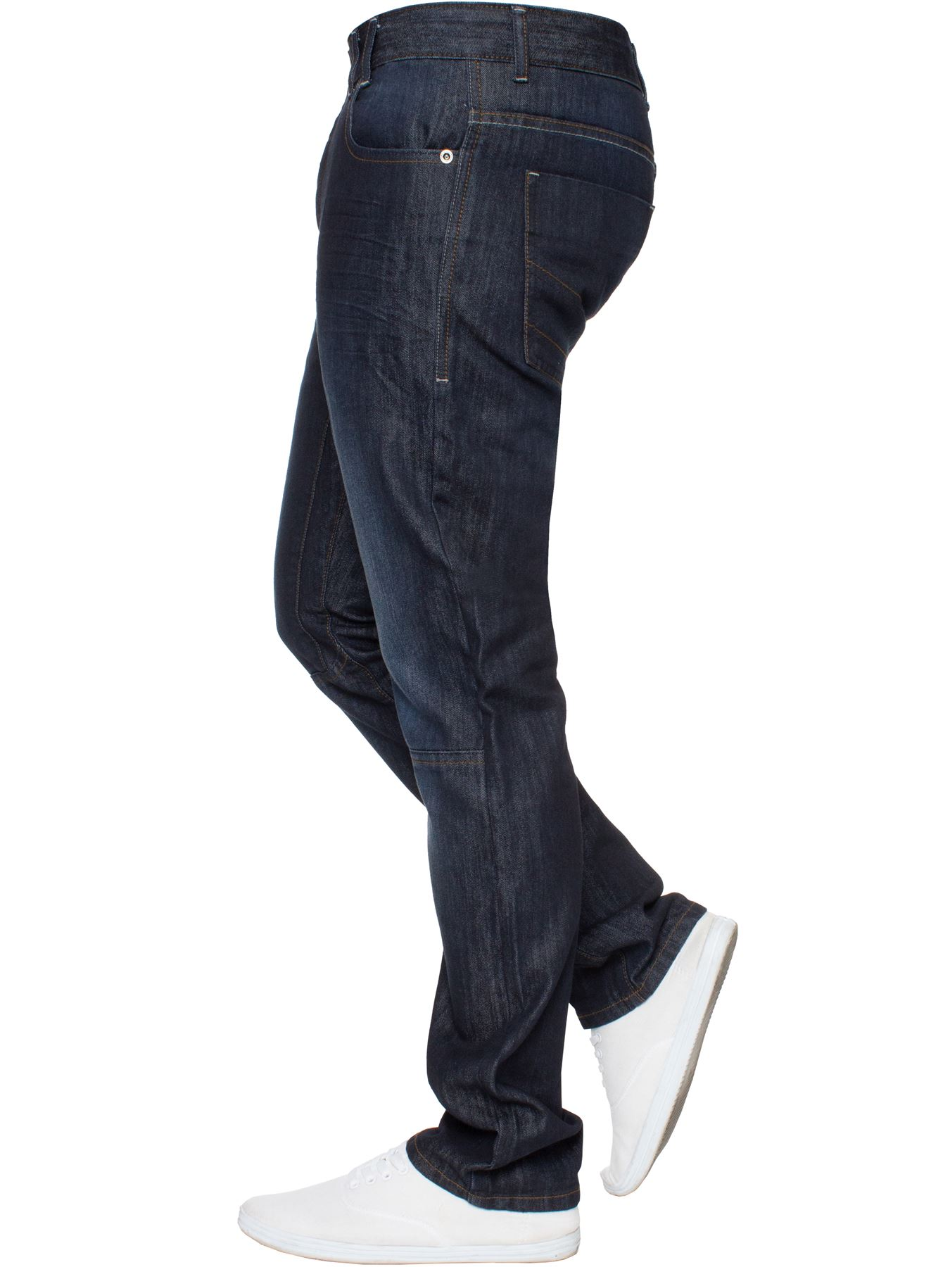 Enzo-Mens-Straight-Jeans-Regular-Leg-Designer-Work-Denim-Pants-All-Waists-Sizes thumbnail 36