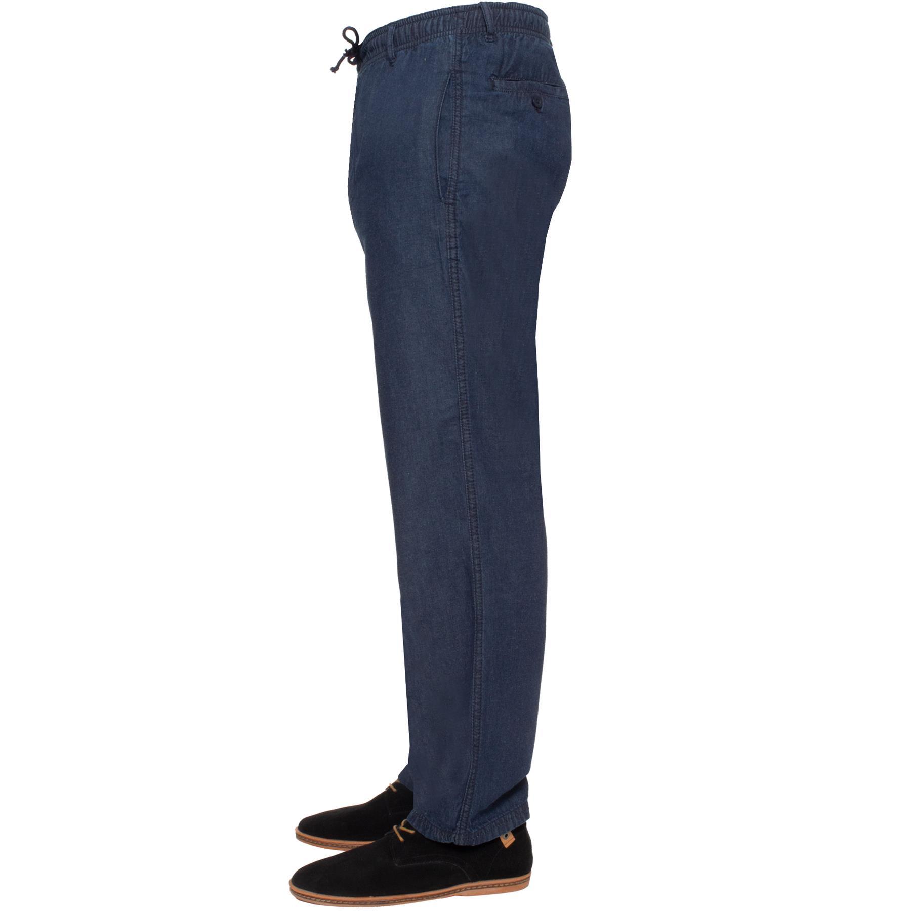 Para-Hombres-Pantalones-De-Rugby-Kruze-cintura-elastica-con-cordon-pantalones-REGULAR-King-Tamanos miniatura 20