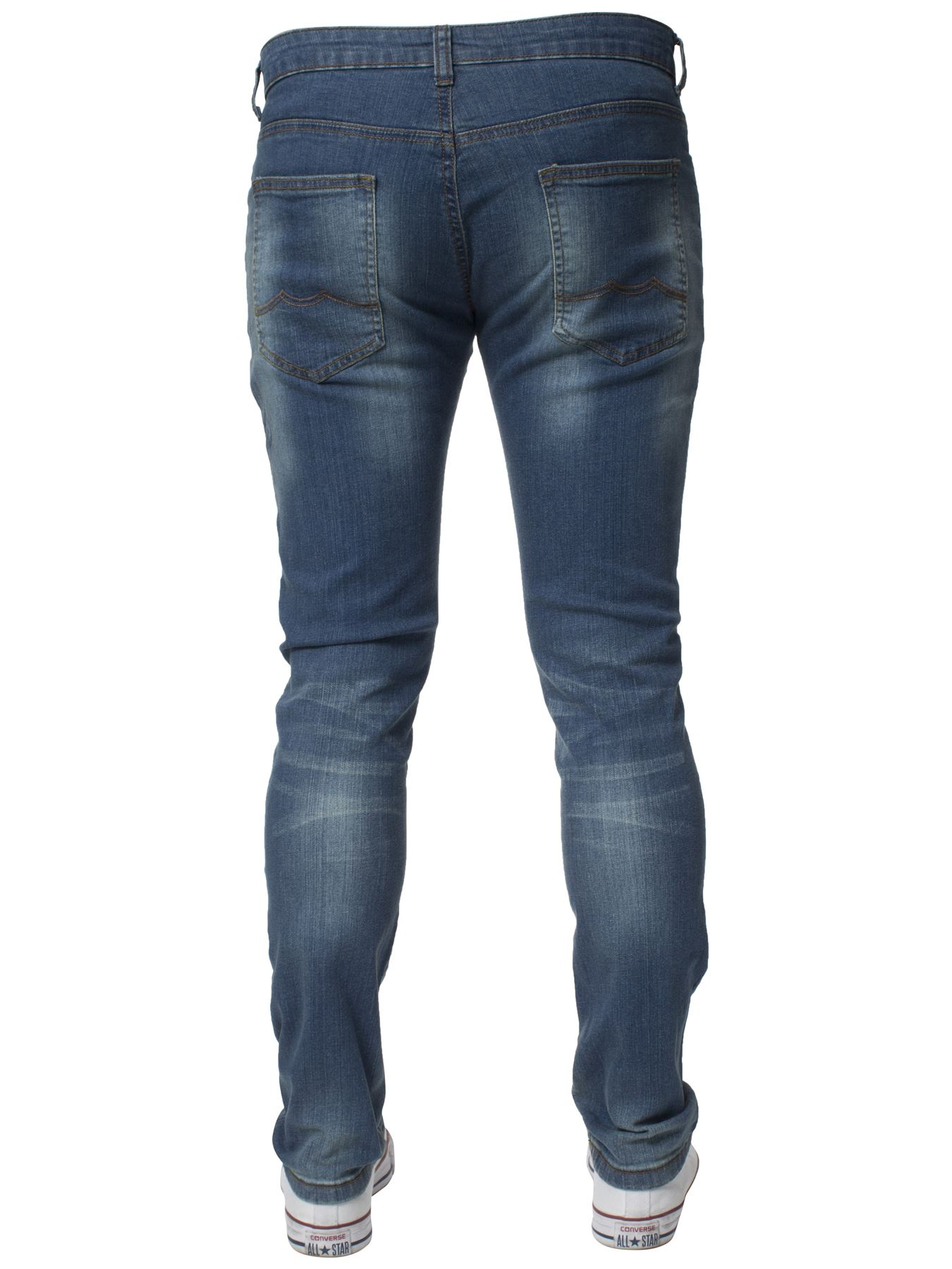 Mens-Skinny-Stretch-Jeans-Slim-Fit-Flex-Denim-Trousers-Pants-King-Sizes-by-Kruze thumbnail 24