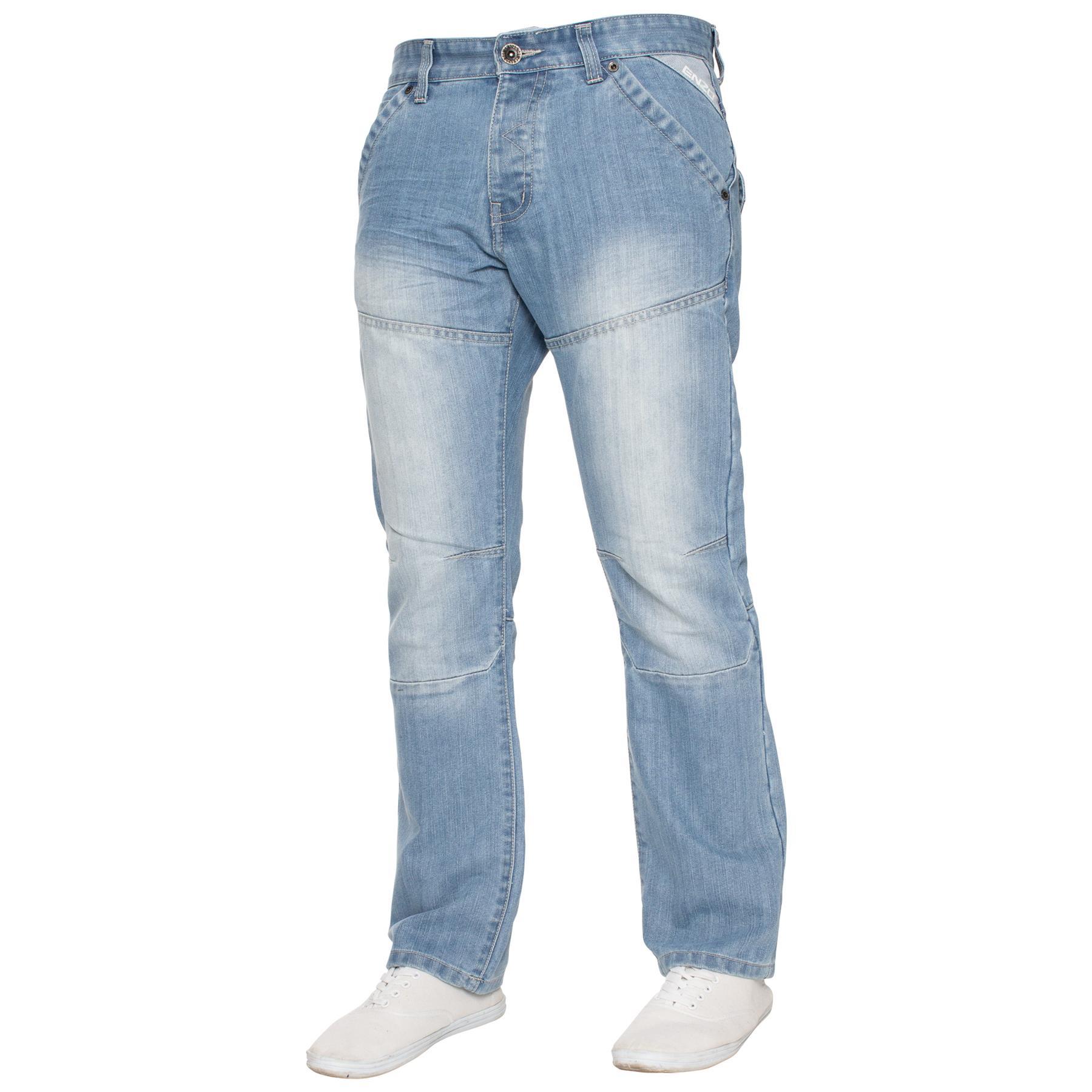 Enzo-Mens-Big-Tall-Jeans-Leg-King-Size-Denim-Pants-Chino-Trousers-Pants-44-034-60-034 thumbnail 66