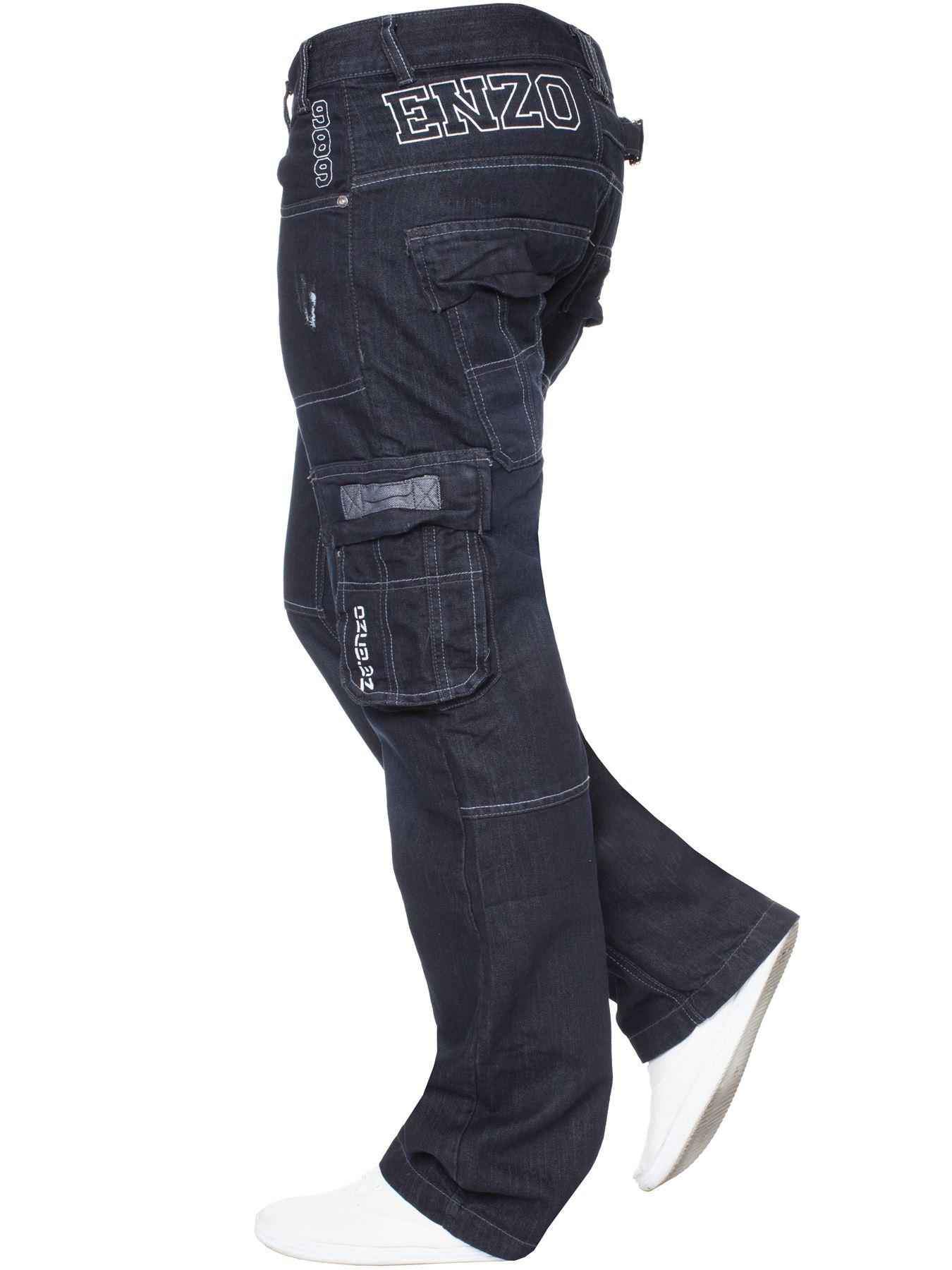 Jeans-Para-Hombre-de-carga-de-combate-pesado-Pantalones-de-trabajo-pantalones-de-mezclilla-Big-King miniatura 24