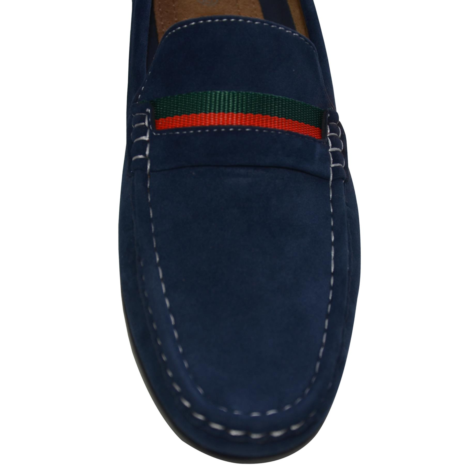 Mens-Slip-Ons-Shoes-Boat-Deck-Driving-Smart-Buckle-Moccasins-Suede-Look-Loafers thumbnail 38