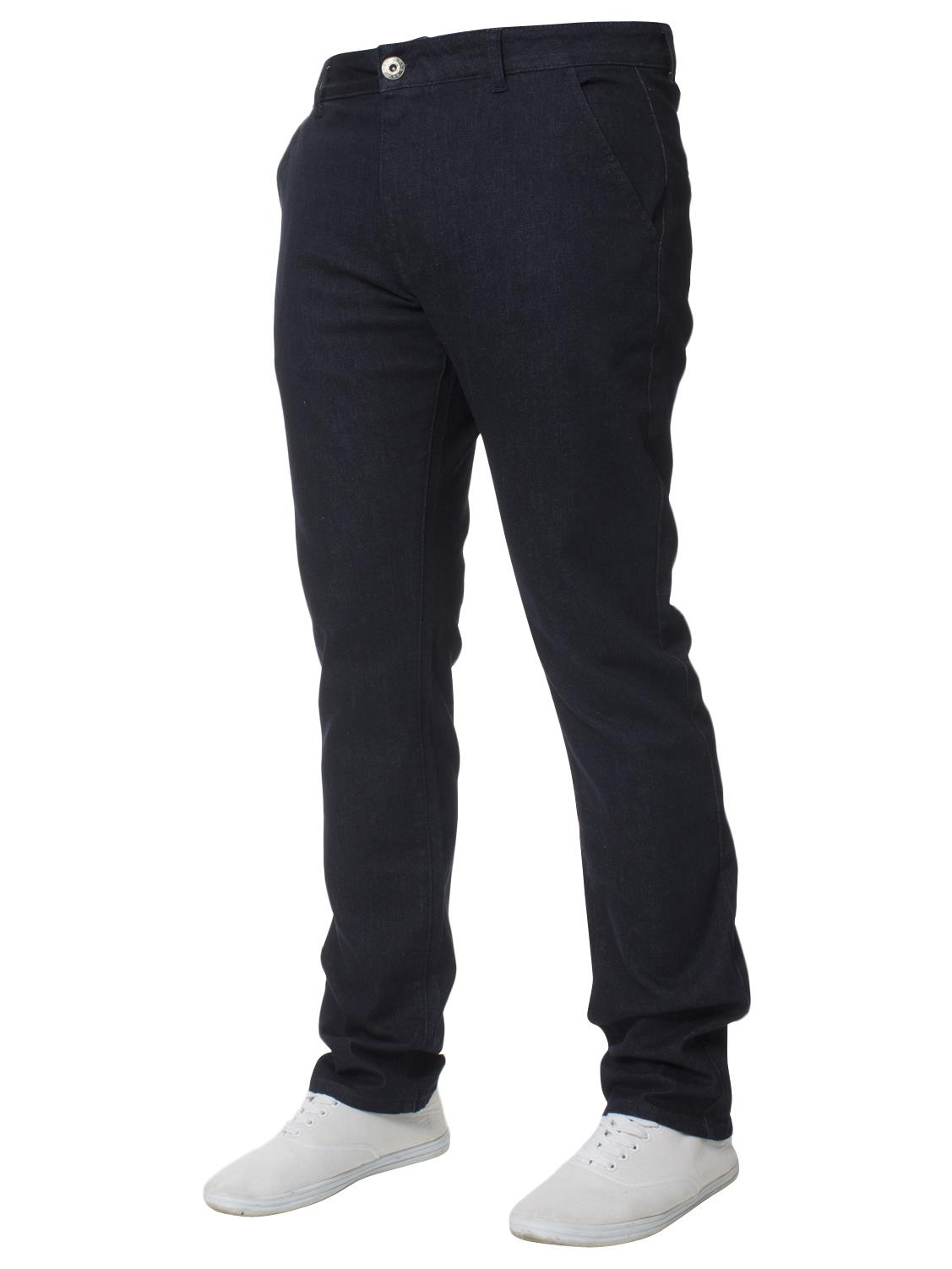 Enzo-Mens-Big-Tall-Jeans-Leg-King-Size-Denim-Pants-Chino-Trousers-Pants-44-034-60-034 thumbnail 30