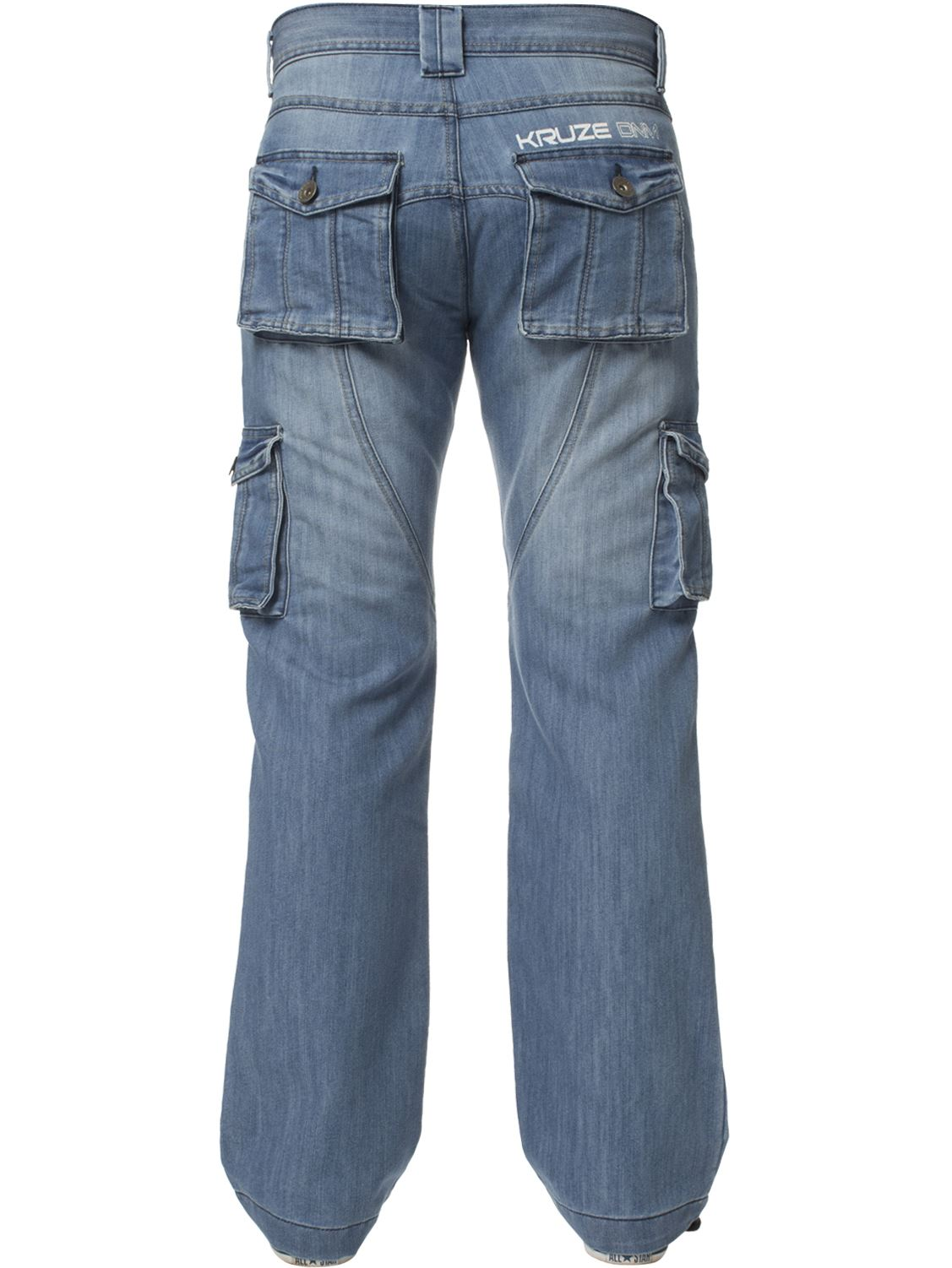 Grandes-jeans-para-hombre-de-combate-de-Kruze-Rey-Alto-Pierna-Cargo-Pantalones-Jeans-Pantalones miniatura 28
