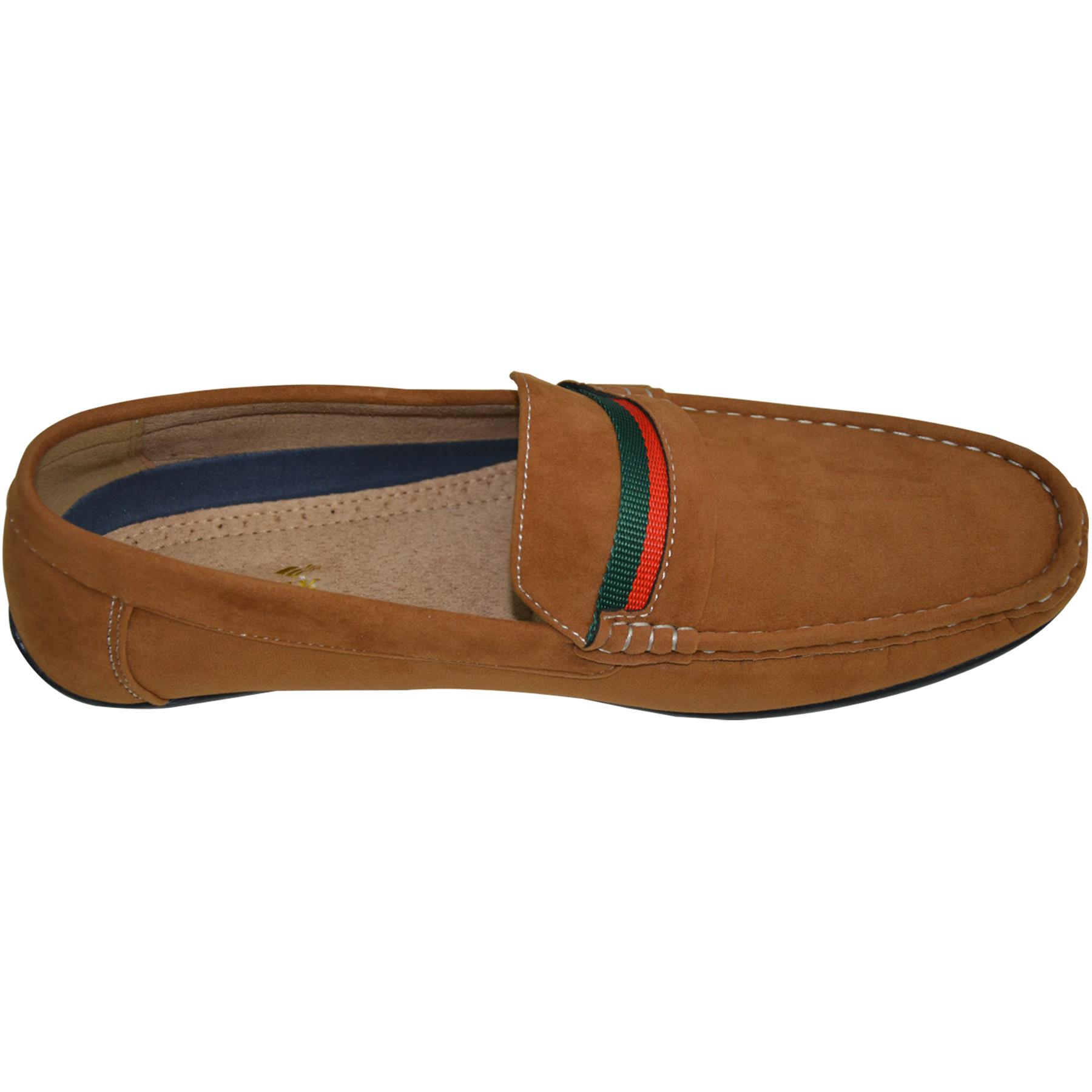 Mens-Slip-Ons-Shoes-Boat-Deck-Driving-Smart-Buckle-Moccasins-Suede-Look-Loafers thumbnail 29