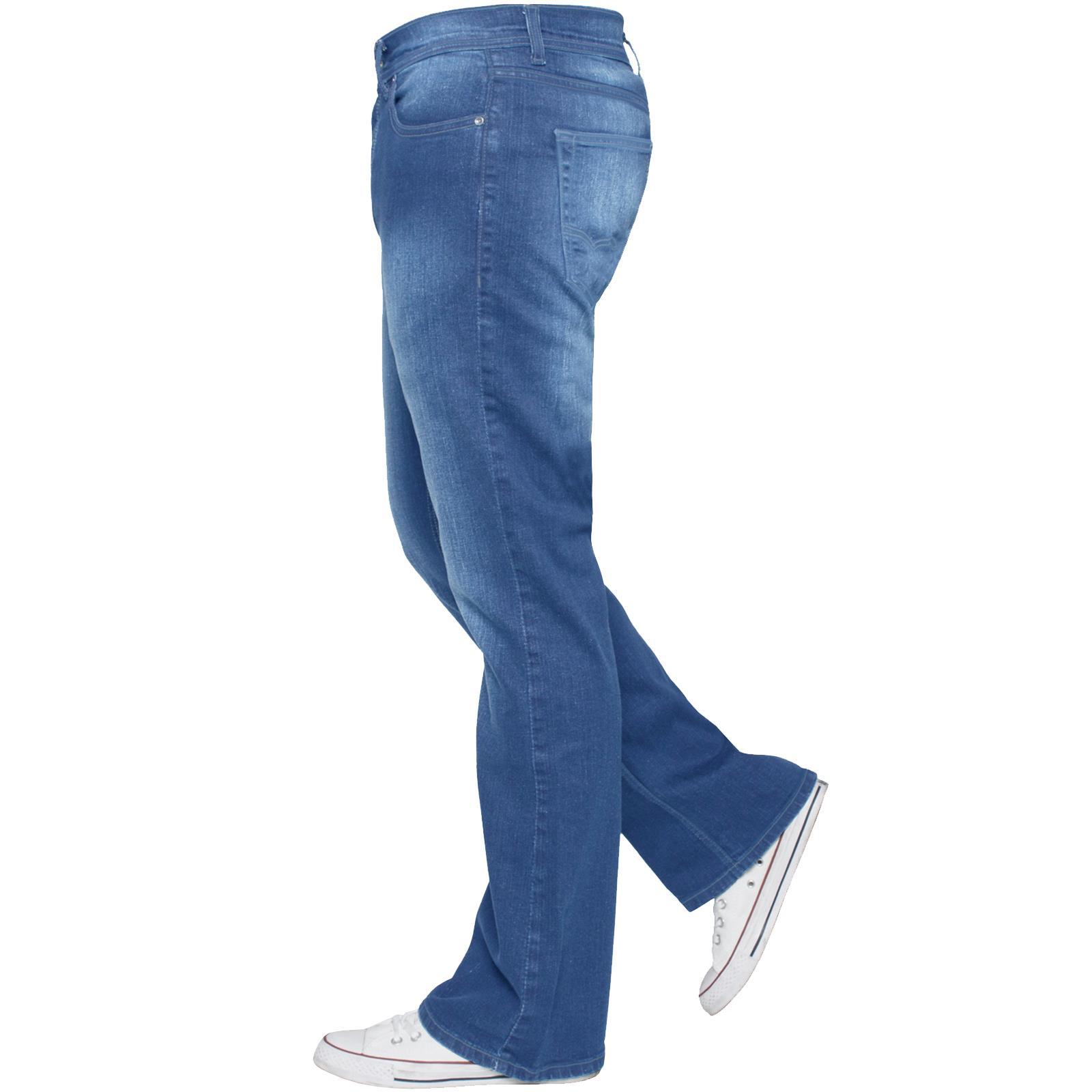 Para-Hombre-Recto-Bootcut-Stretch-Jeans-Pantalones-Regular-Fit-Grande-Alto-Todas-Cinturas miniatura 43