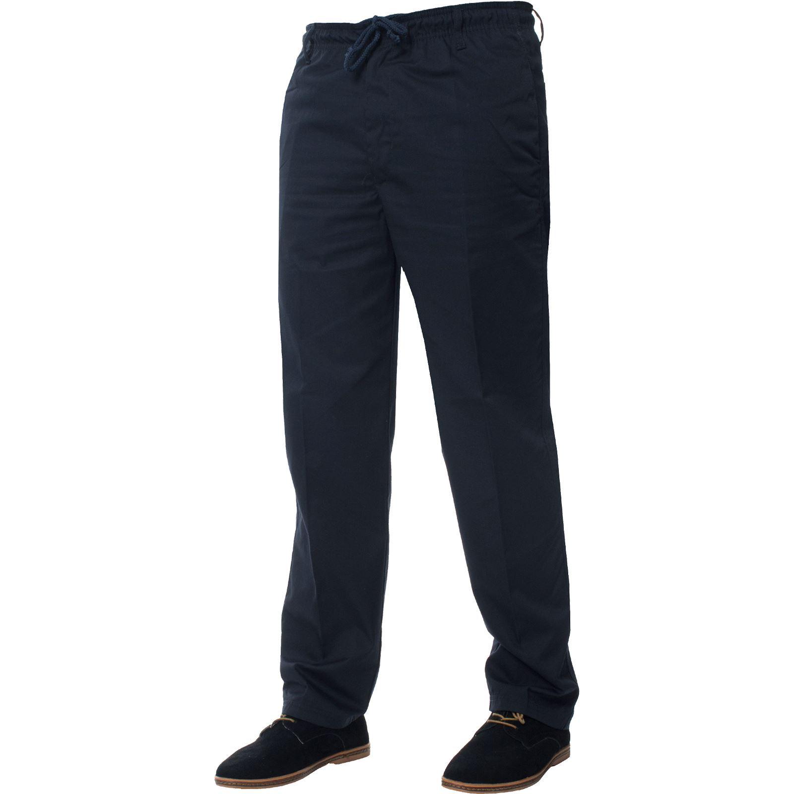 Para-Hombres-Pantalones-De-Rugby-Kruze-cintura-elastica-con-cordon-pantalones-REGULAR-King-Tamanos miniatura 10