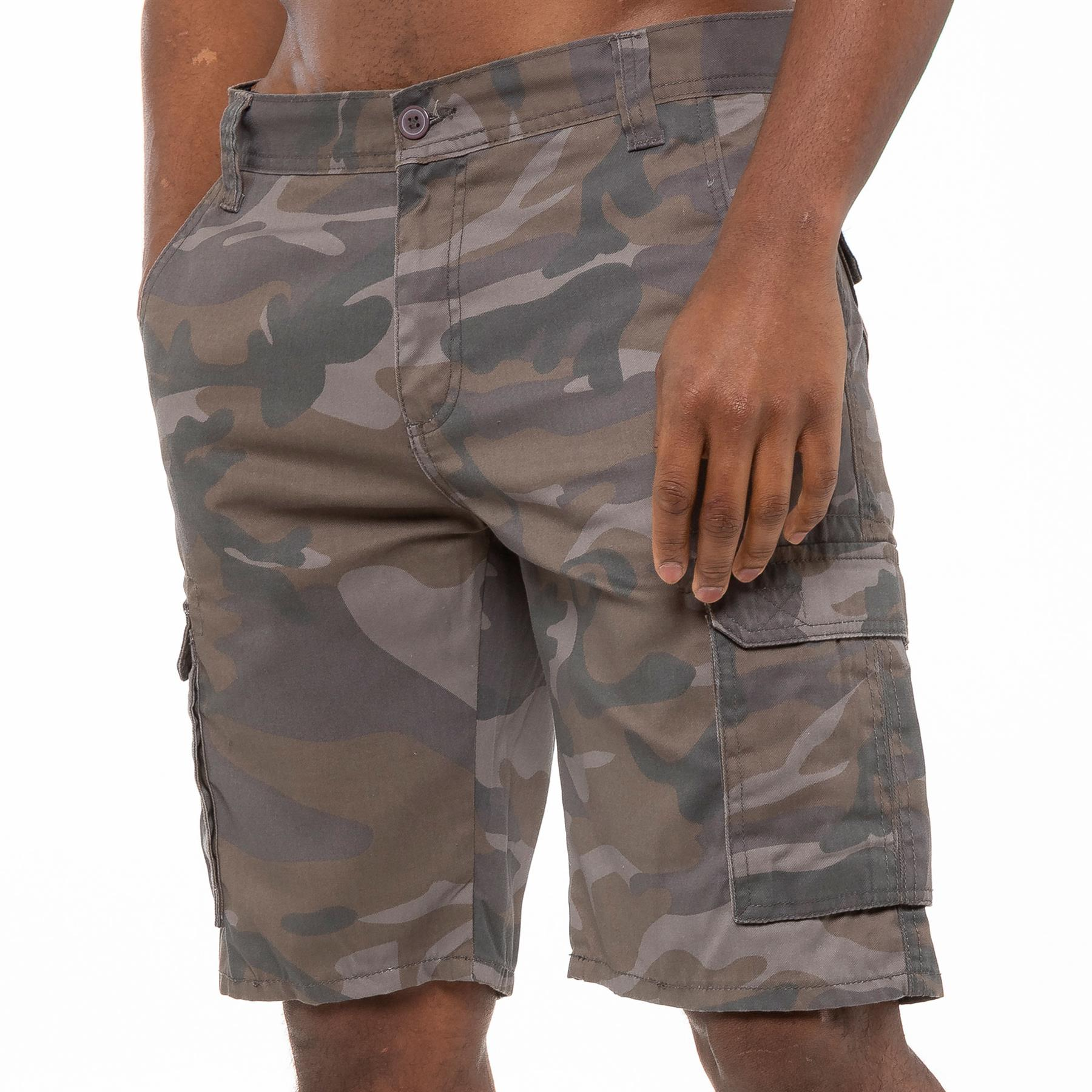 thumbnail 13 - Kruze Jeans Mens Army Combat Shorts Camouflage Cargo Casual Camo Work Half Pants