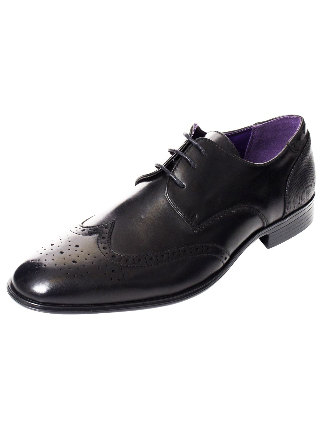 Mens-Faux-Leather-Shoes-Smart-Formal-Wedding-Office-Lace-Up-Designer-Brogues thumbnail 17
