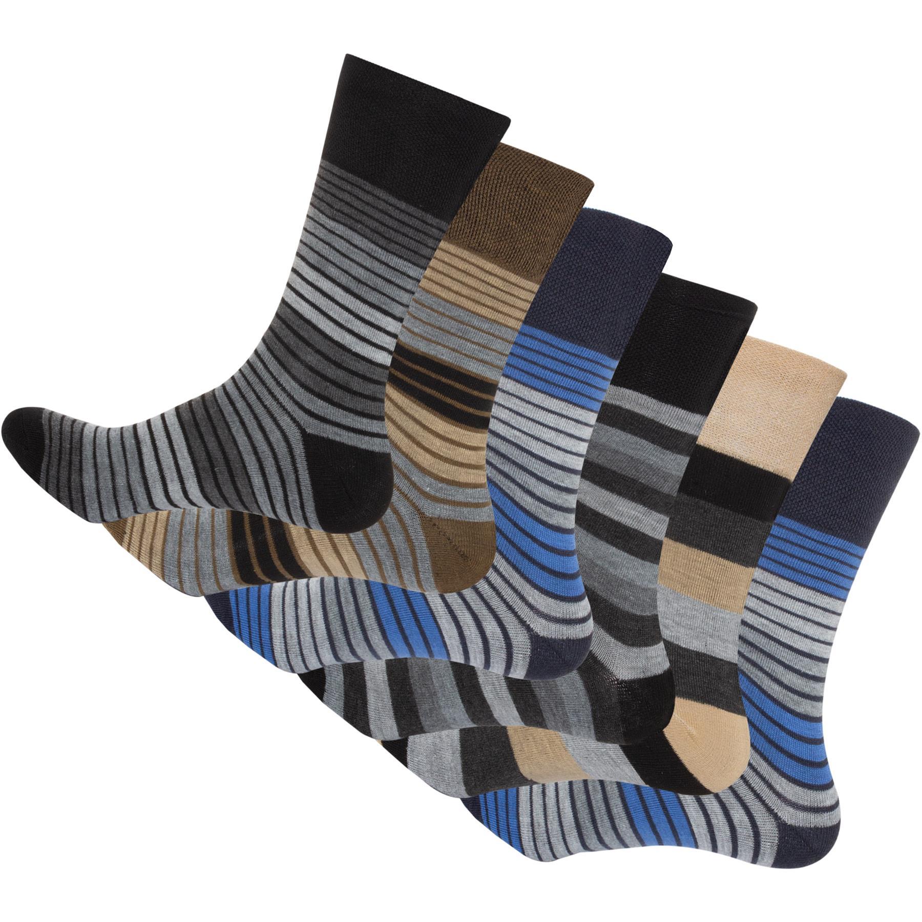 6 /& 12 Pairs Mens Non Elastic Diabetic Socks Comfort Soft Adults Sock 6-11 UK