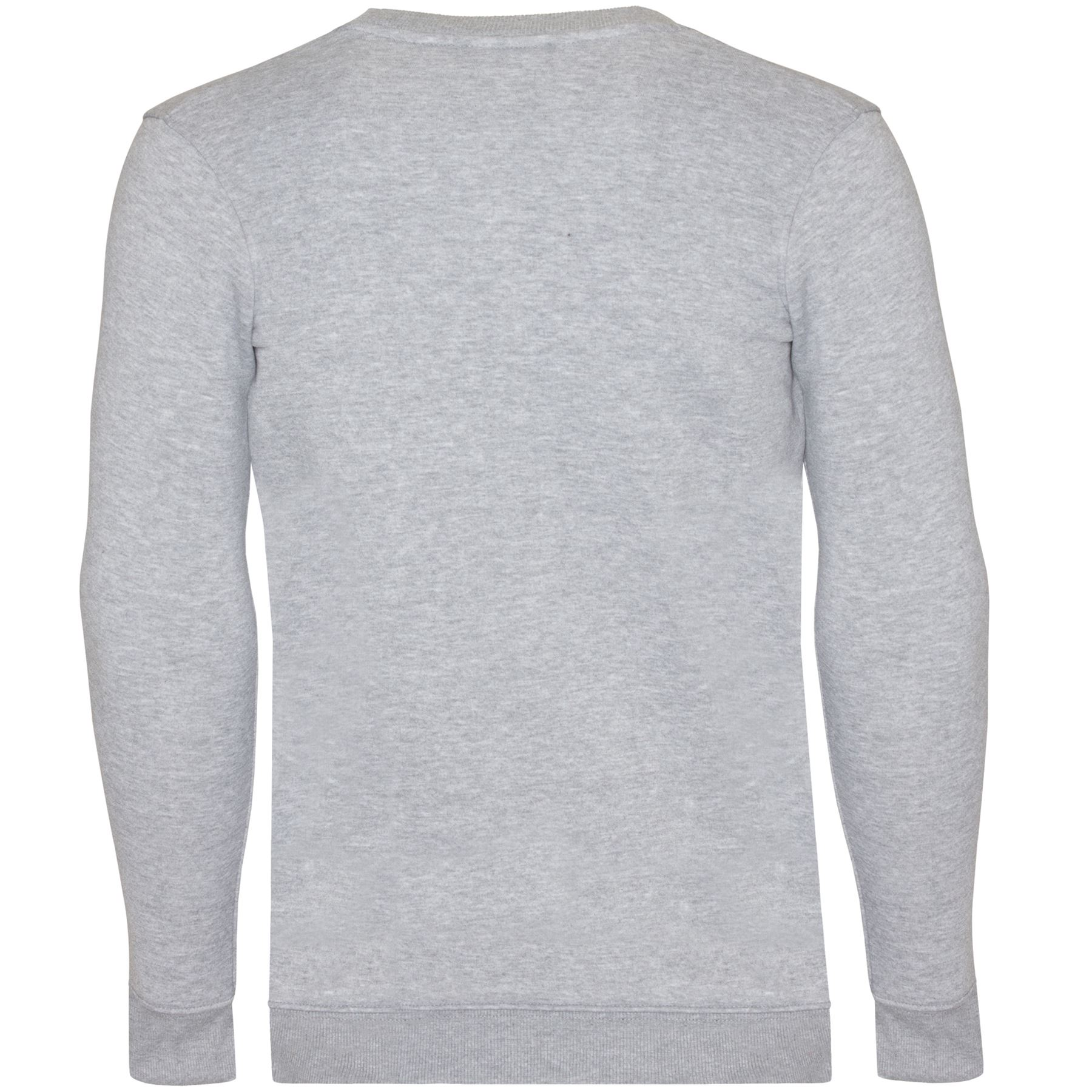 Mens-Crew-Neck-Sweatshirt-Jumper-Casual-Plain-Jersey-Fleece-Sweat-Top-Pullover thumbnail 9
