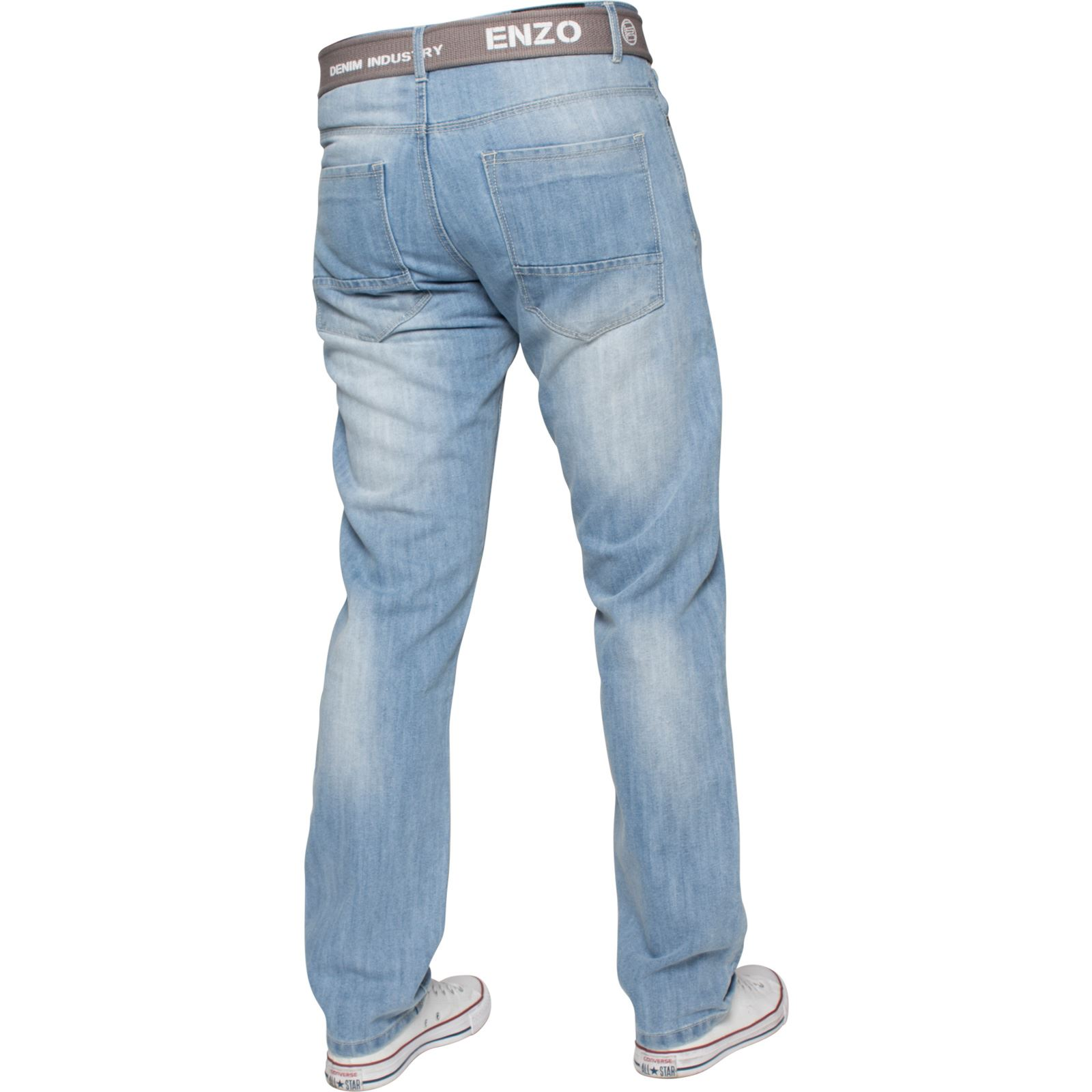 Enzo-Mens-Designer-Jeans-Regular-Fit-Denim-Pants-Big-Tall-All-Waist-Sizes thumbnail 16