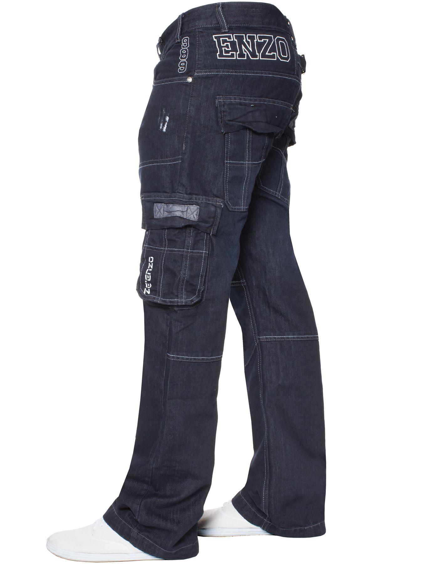 Jeans-Para-Hombre-de-carga-de-combate-pesado-Pantalones-de-trabajo-pantalones-de-mezclilla-Big-King miniatura 25