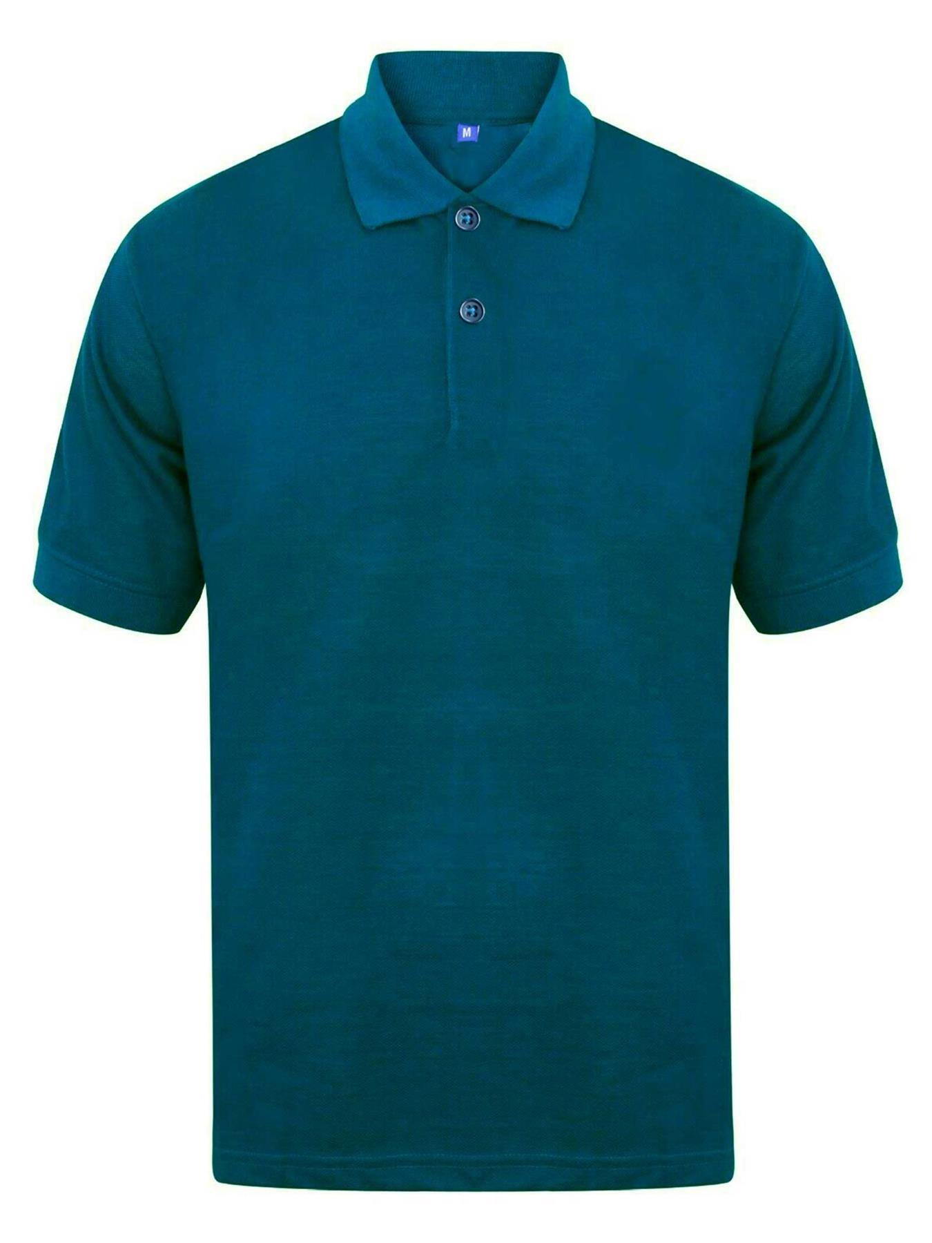 Indexbild 35 - Herren Polohemd Freizeit T-Shirts Neu Schlicht Kurzärmeliges Regular Fit
