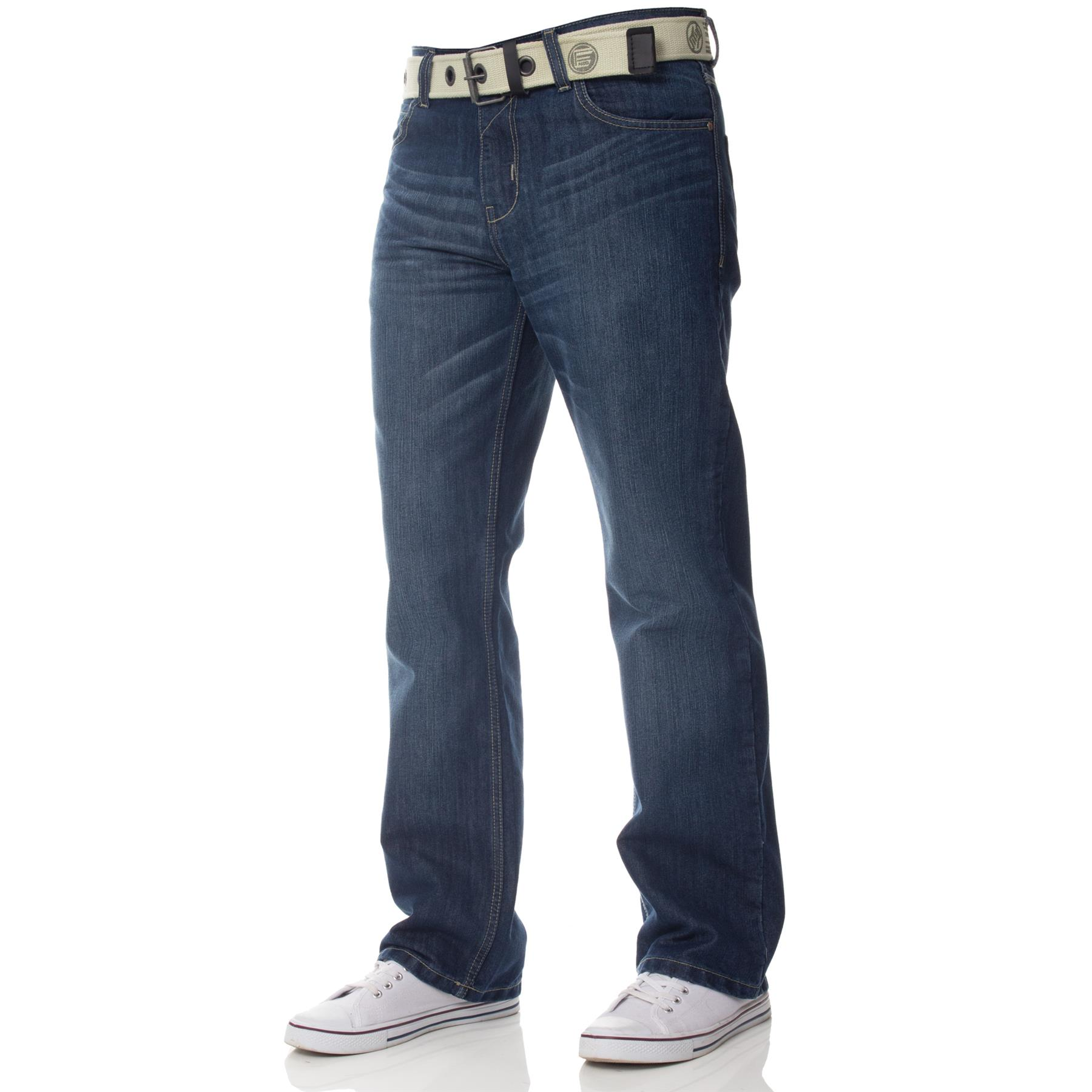 ENZO-Jeans-para-hombre-Big-Alto-Pierna-King-Size-Jeans-Pantalones-Chino-Pantalones-Pantalones-44-034 miniatura 46