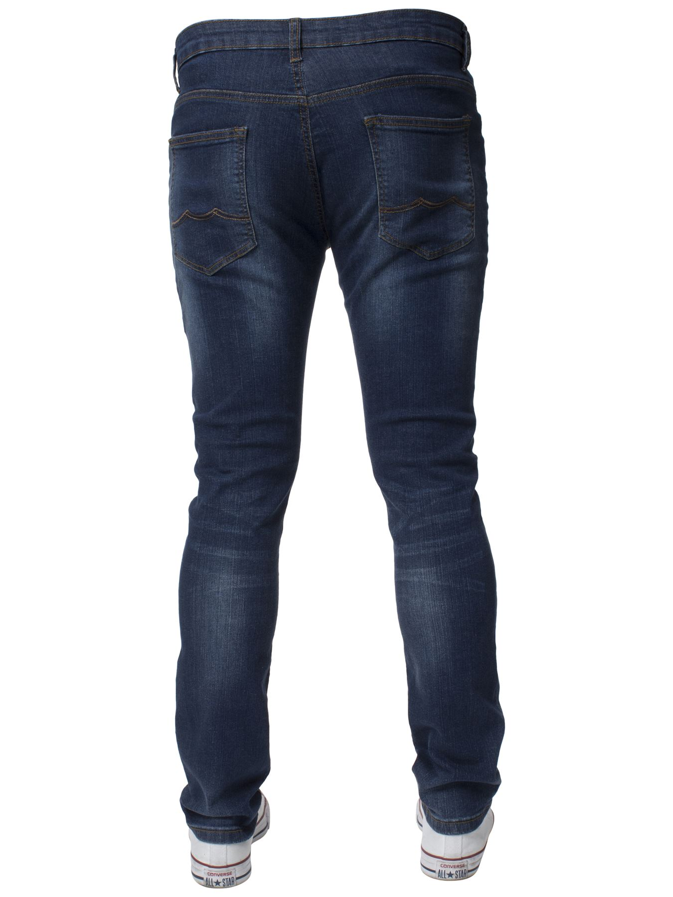 Mens-Skinny-Stretch-Jeans-Slim-Fit-Flex-Denim-Trousers-Pants-King-Sizes-by-Kruze thumbnail 12