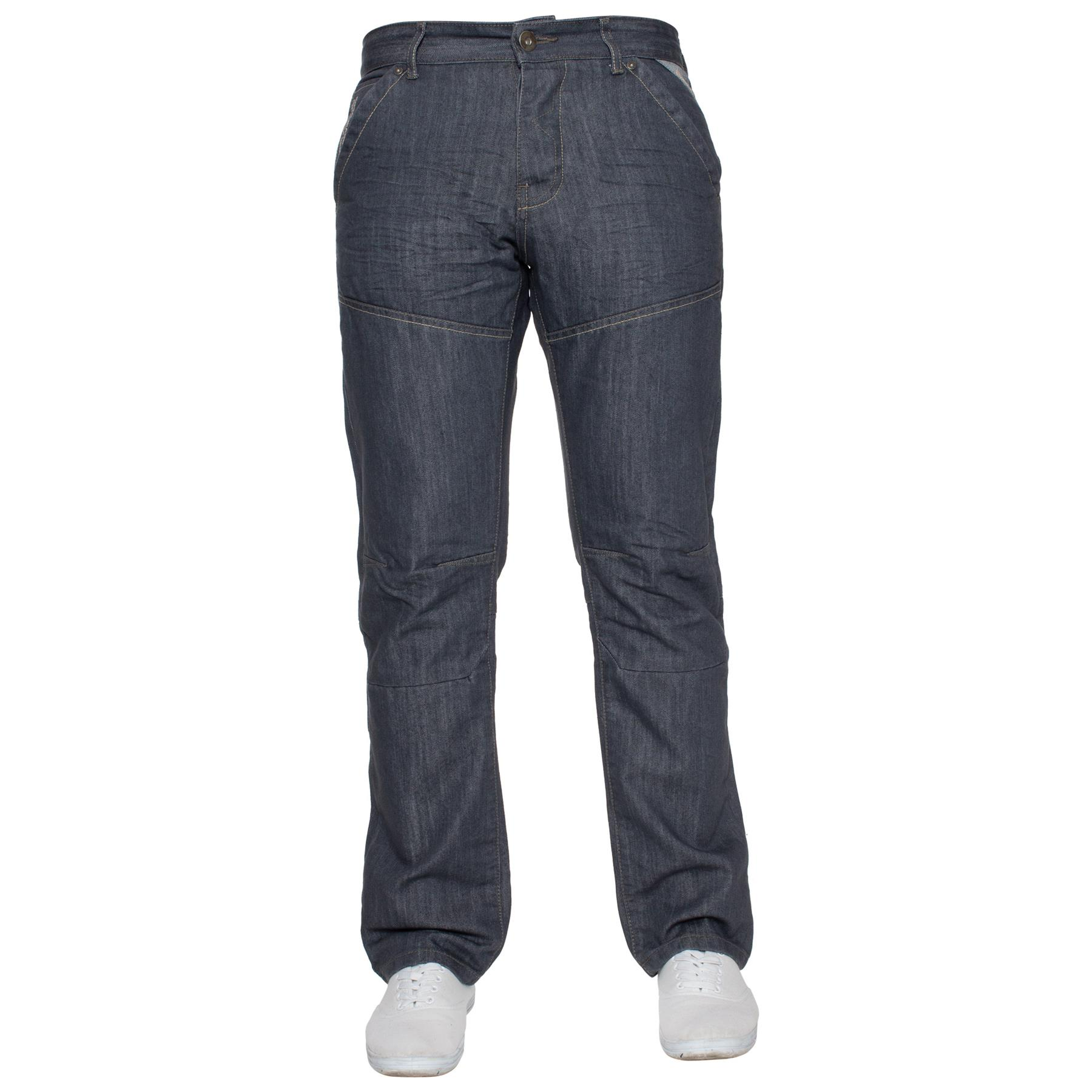 Enzo-Mens-Jeans-Big-Tall-Leg-King-Size-Denim-Pants-Chino-Trousers-Waist-44-034-60-034 miniature 90