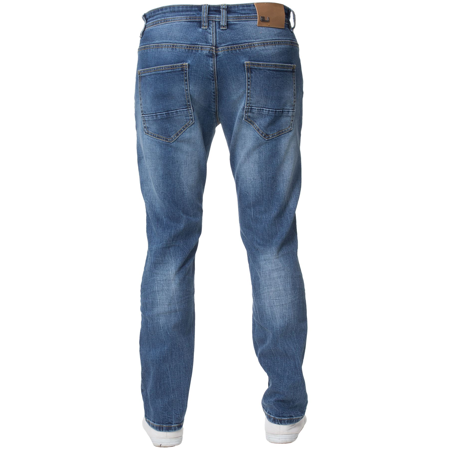 Eto-Designer-Mens-Tapered-Jeans-Slim-Fit-Stretch-Denim-Trouser-Pants-All-Waists thumbnail 6