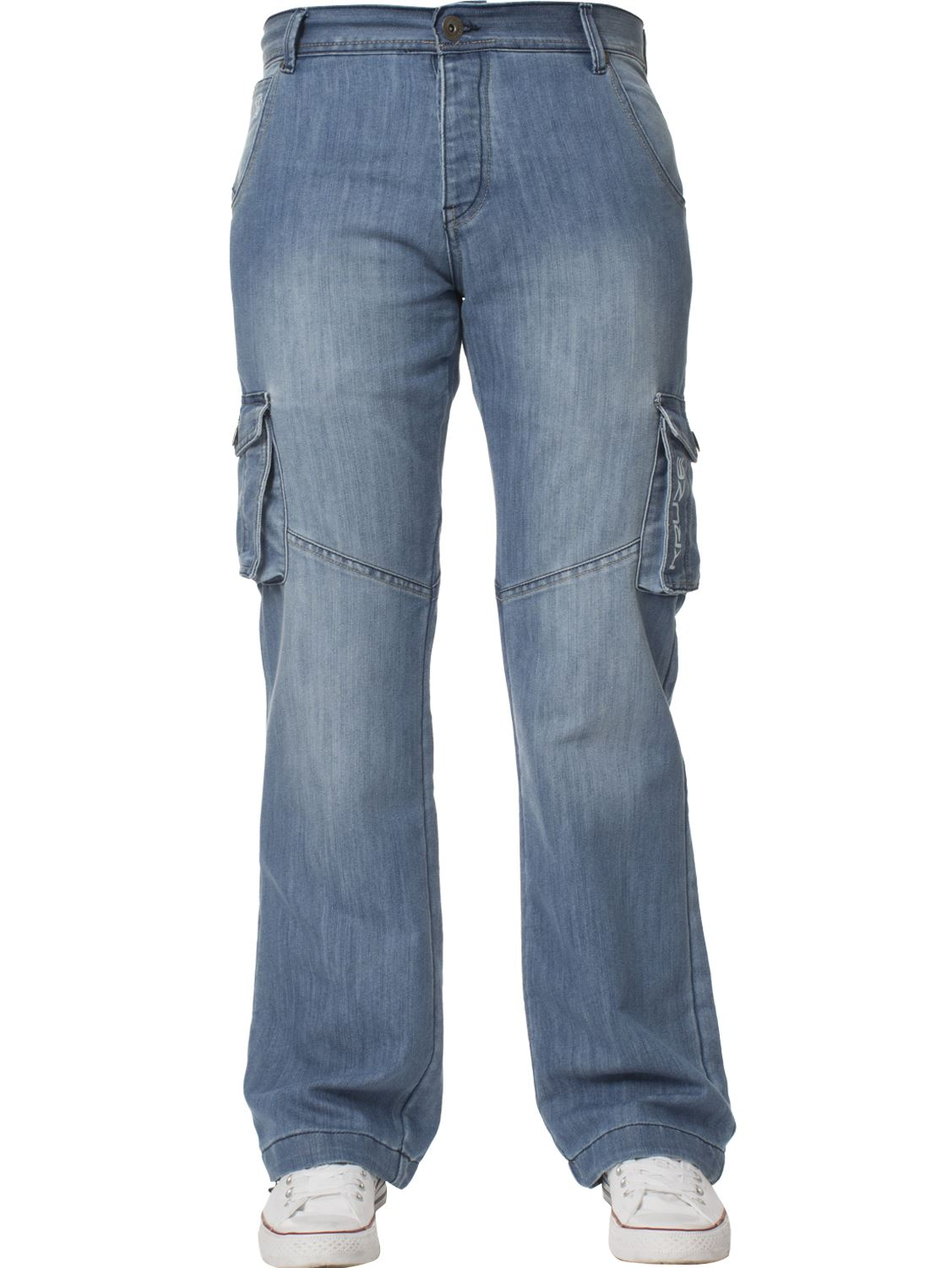 Mens-Cargo-Jeans-Combat-Trousers-Heavy-Duty-Work-Casual-Big-Tall-Denim-Pants thumbnail 81