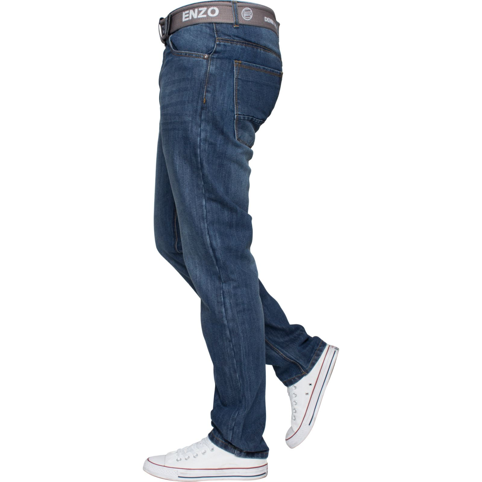 Enzo-Mens-Designer-Jeans-Regular-Fit-Denim-Pants-Big-Tall-All-Waist-Sizes thumbnail 8