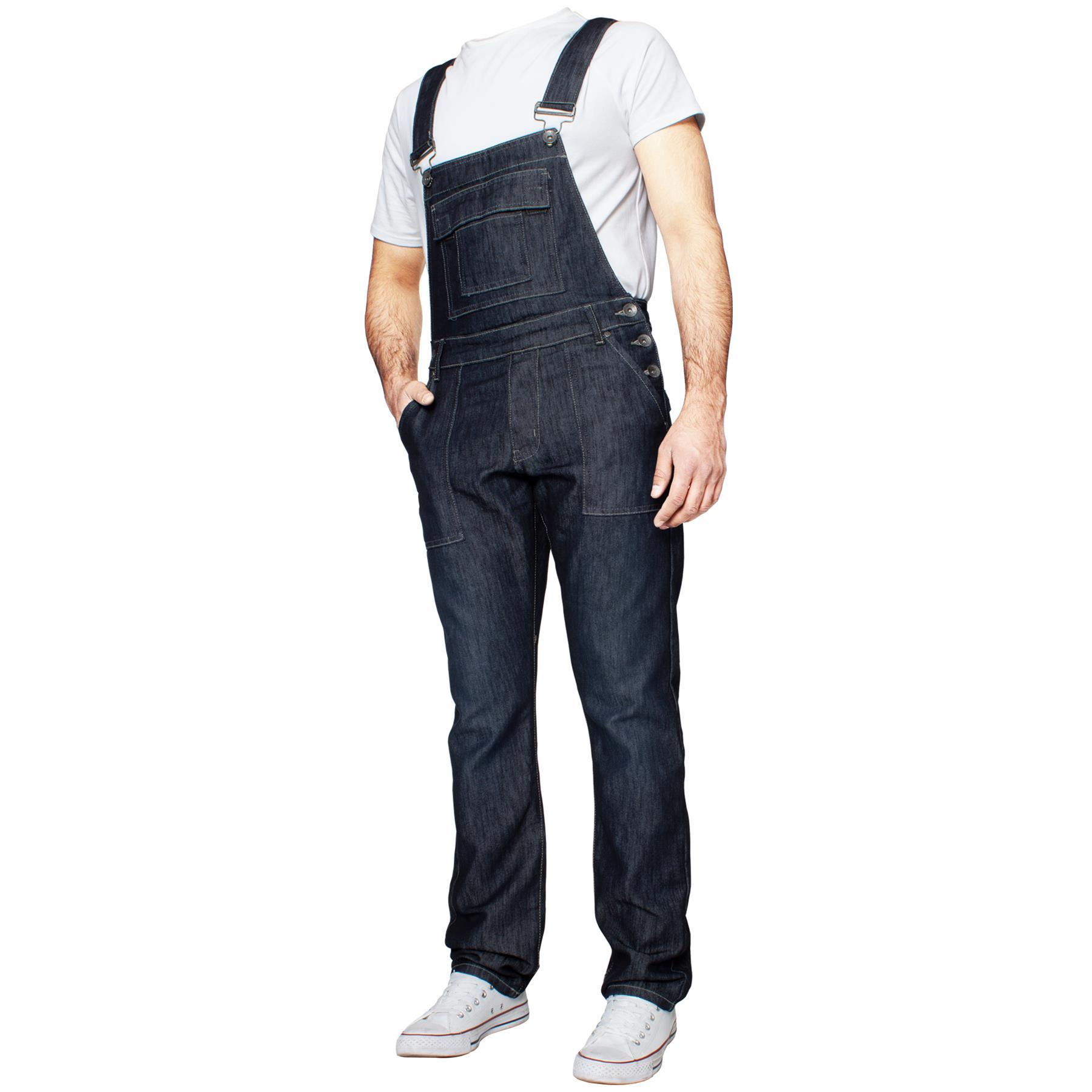 ENZO-Jeans-Hombre-Denim-Azul-Peto-Peto-overoles-Todas-Cinturas-Talla-30-034-50-034 miniatura 18
