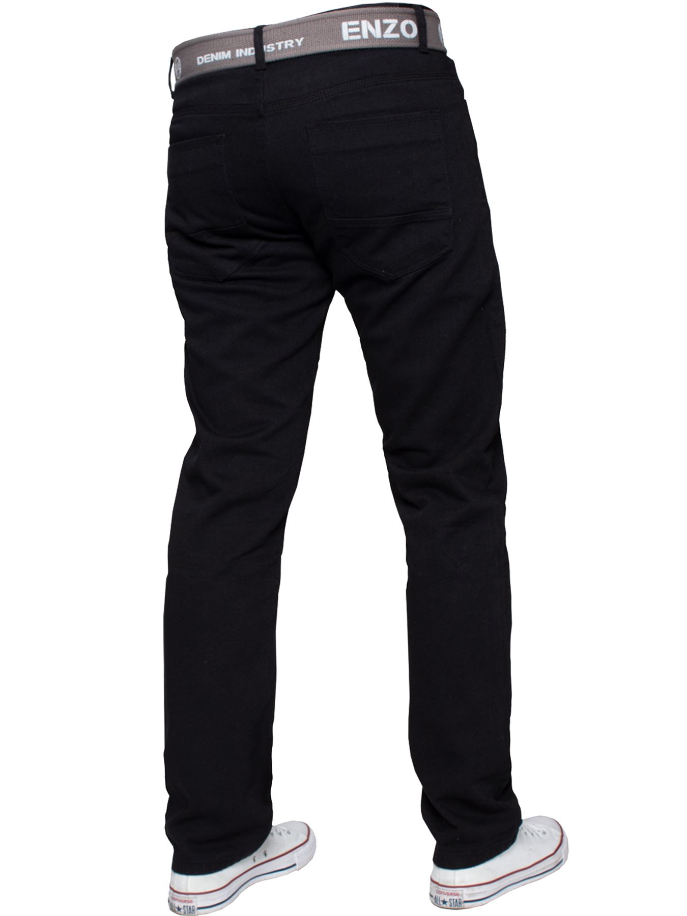 Enzo-Mens-Straight-Leg-Jeans-Regular-Fit-Denim-Pants-Big-Tall-All-Waists-Sizes thumbnail 4