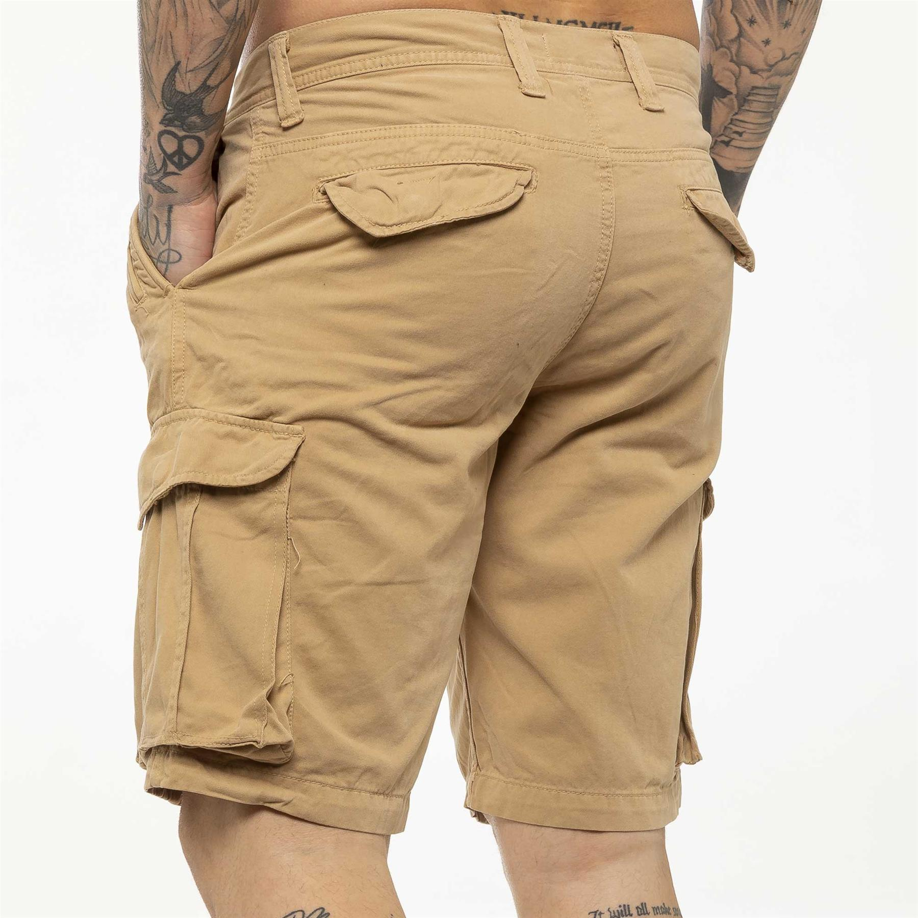 thumbnail 32 - Kruze Jeans Mens Army Combat Shorts Camouflage Cargo Casual Camo Work Half Pants