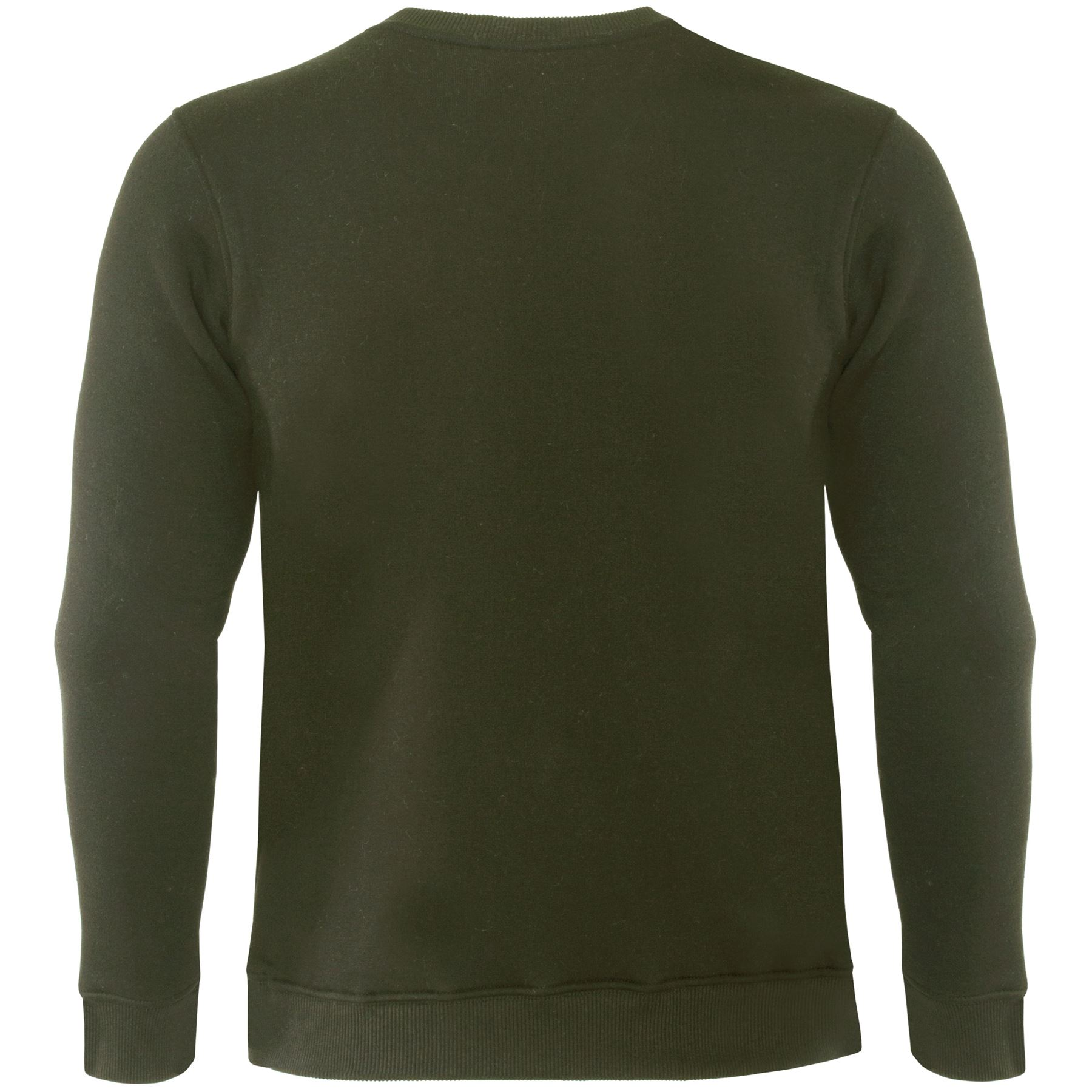 Mens-Crew-Neck-Sweatshirt-Jumper-Casual-Plain-Jersey-Fleece-Sweat-Top-Pullover thumbnail 11
