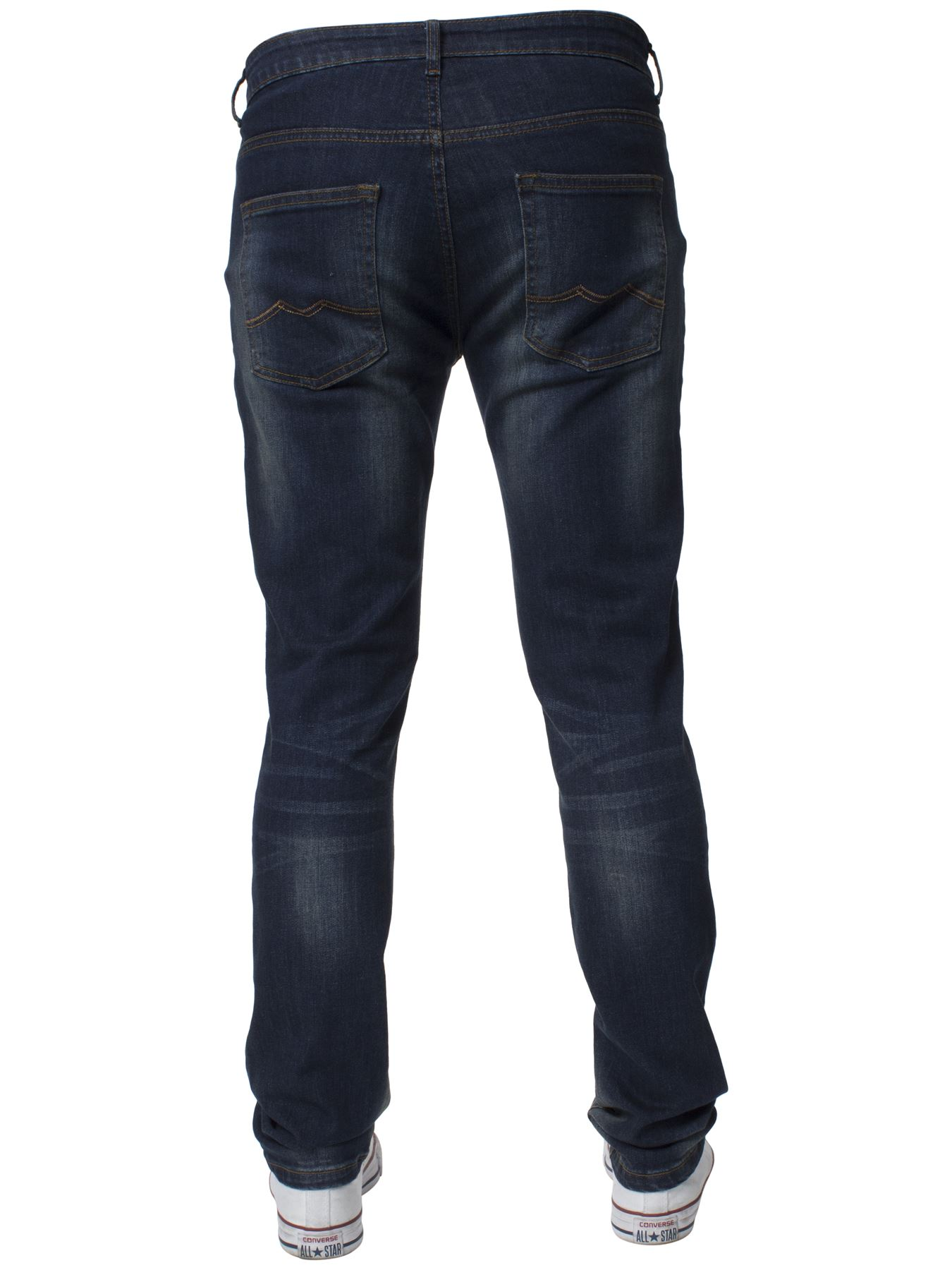 Mens-Skinny-Stretch-Jeans-Slim-Fit-Flex-Denim-Trousers-Pants-King-Sizes-by-Kruze thumbnail 18