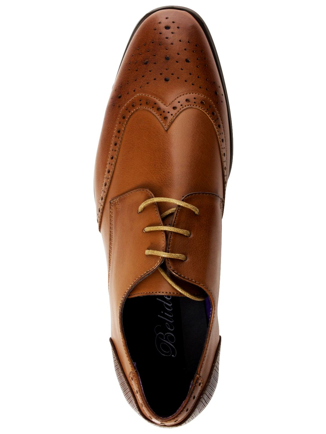 Mens-Faux-Leather-Shoes-Smart-Formal-Wedding-Office-Lace-Up-Designer-Brogues thumbnail 25