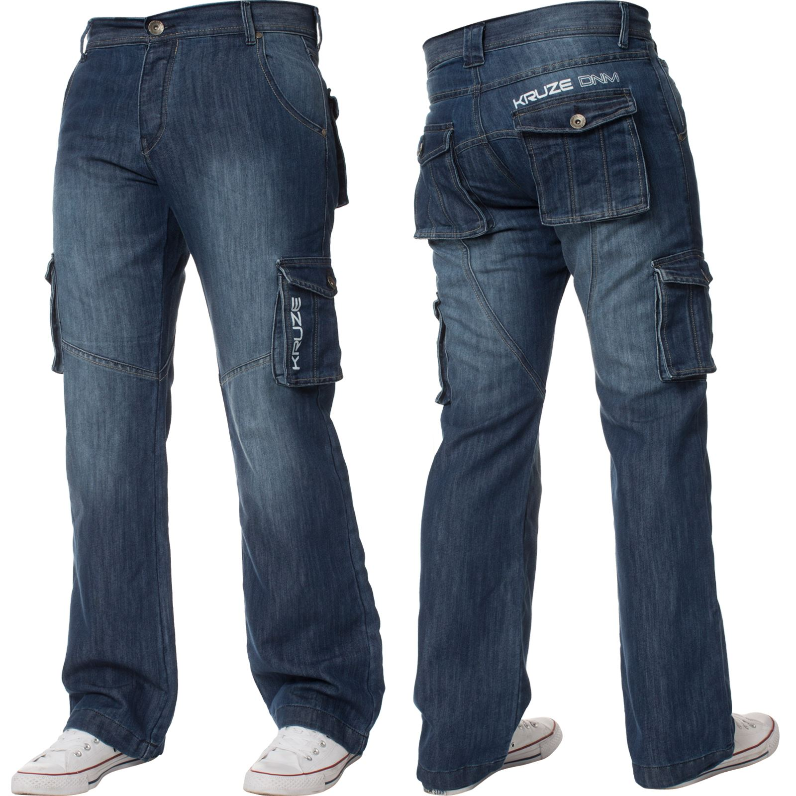 Mens-Cargo-Jeans-Combat-Trousers-Heavy-Duty-Work-Casual-Big-Tall-Denim-Pants thumbnail 51