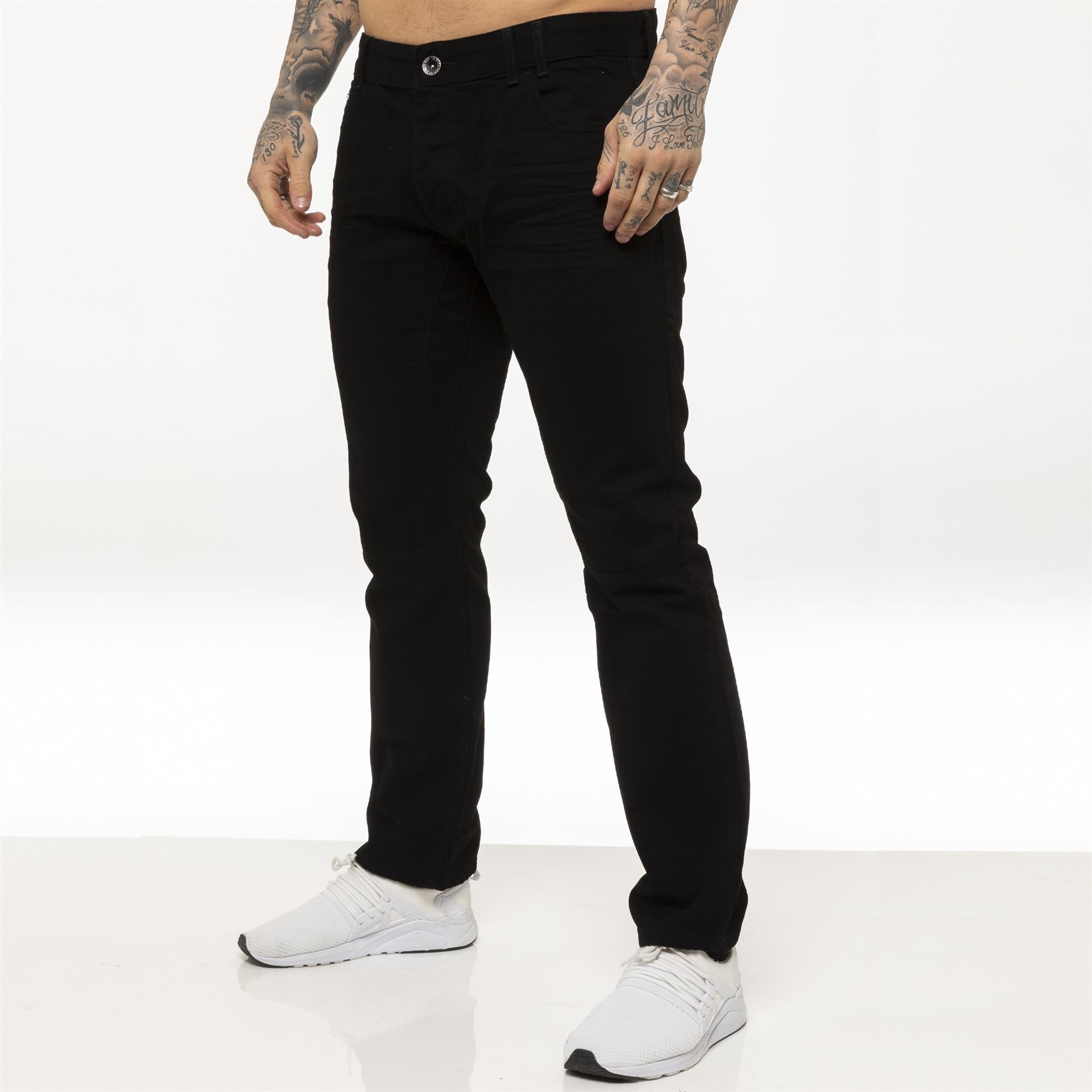 miniature 3 - Enzo pour homme coupe droite regular leg homme travail Denim Pantalon Toutes Tailles Tailles