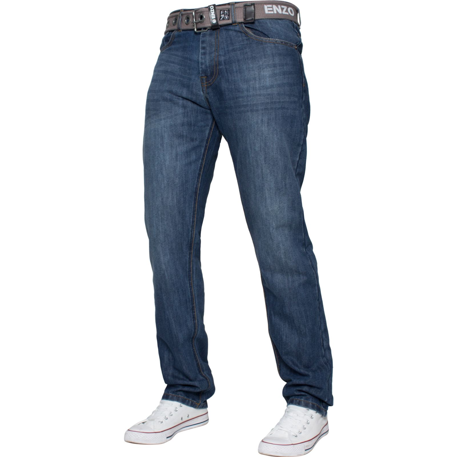 Enzo-Mens-Designer-Jeans-Regular-Fit-Denim-Pants-Big-Tall-All-Waist-Sizes thumbnail 6
