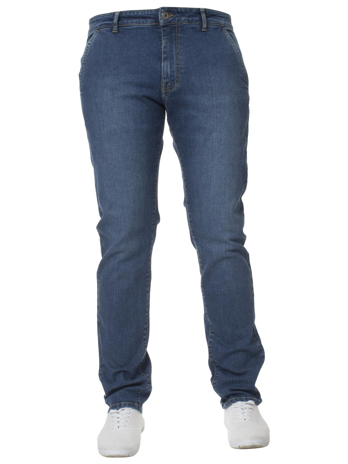 Enzo-Mens-Jeans-Big-Tall-Leg-King-Size-Denim-Pants-Chino-Trousers-Waist-44-034-60-034 miniature 30
