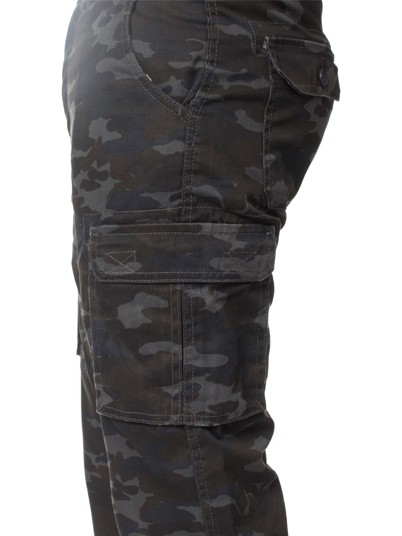 Kruze-Mens-Military-Combat-Trousers-Camouflage-Cargo-Camo-Army-Casual-Work-Pants miniatura 36