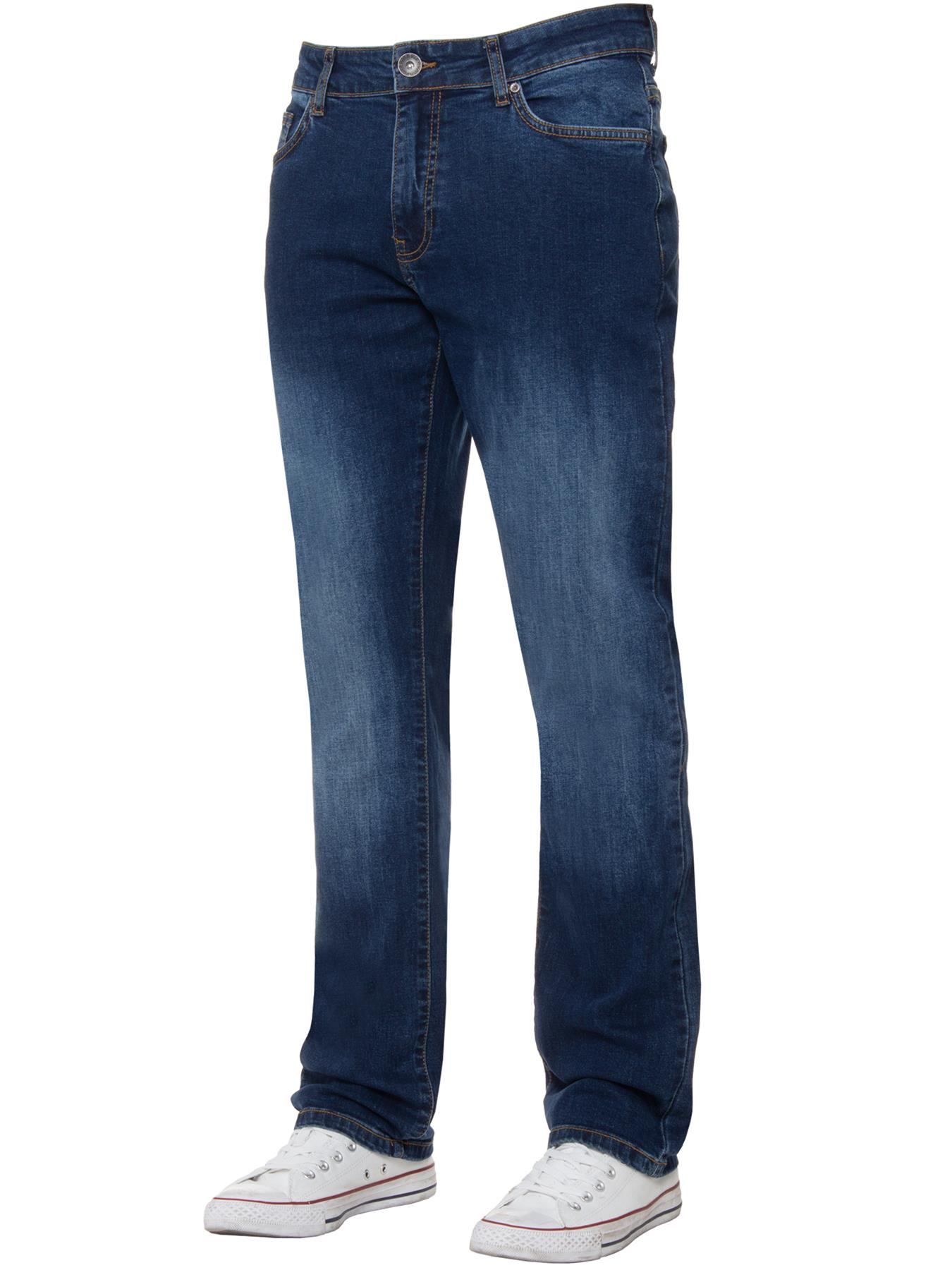 Para-Hombre-Pierna-Recta-Bootcut-Stretch-Denim-Regulares-Pantalon-de-trabajo-Kruze-Todas-Cinturas miniatura 42