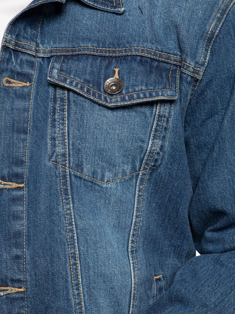 Enzo-Mens-Denim-Jacket-Classic-Western-Style-Designer-Trucker-Vintage-Style-Coat thumbnail 11