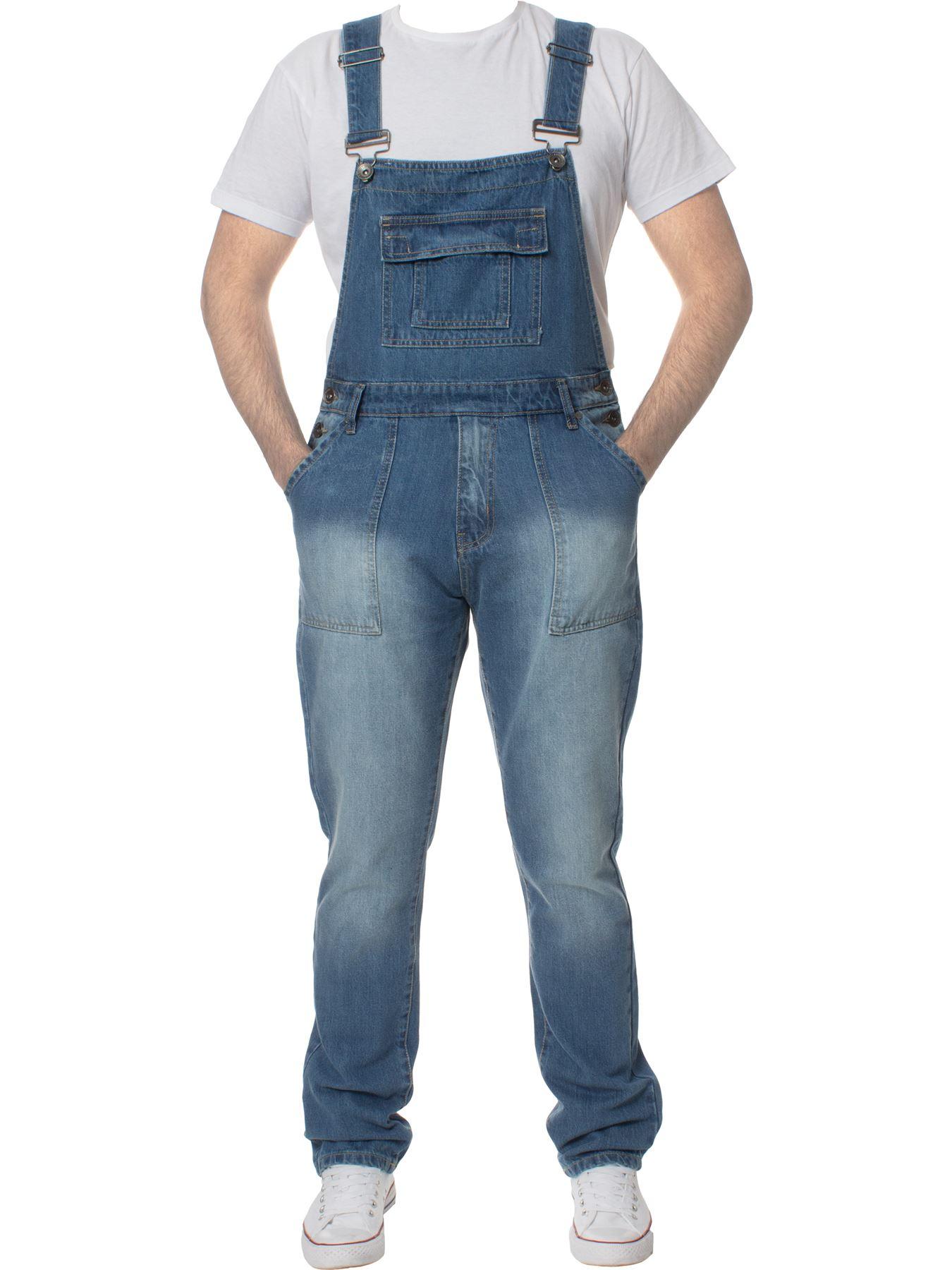 ENZO-Jeans-Hombre-Denim-Azul-Peto-Peto-overoles-Todas-Cinturas-Talla-30-034-50-034 miniatura 5