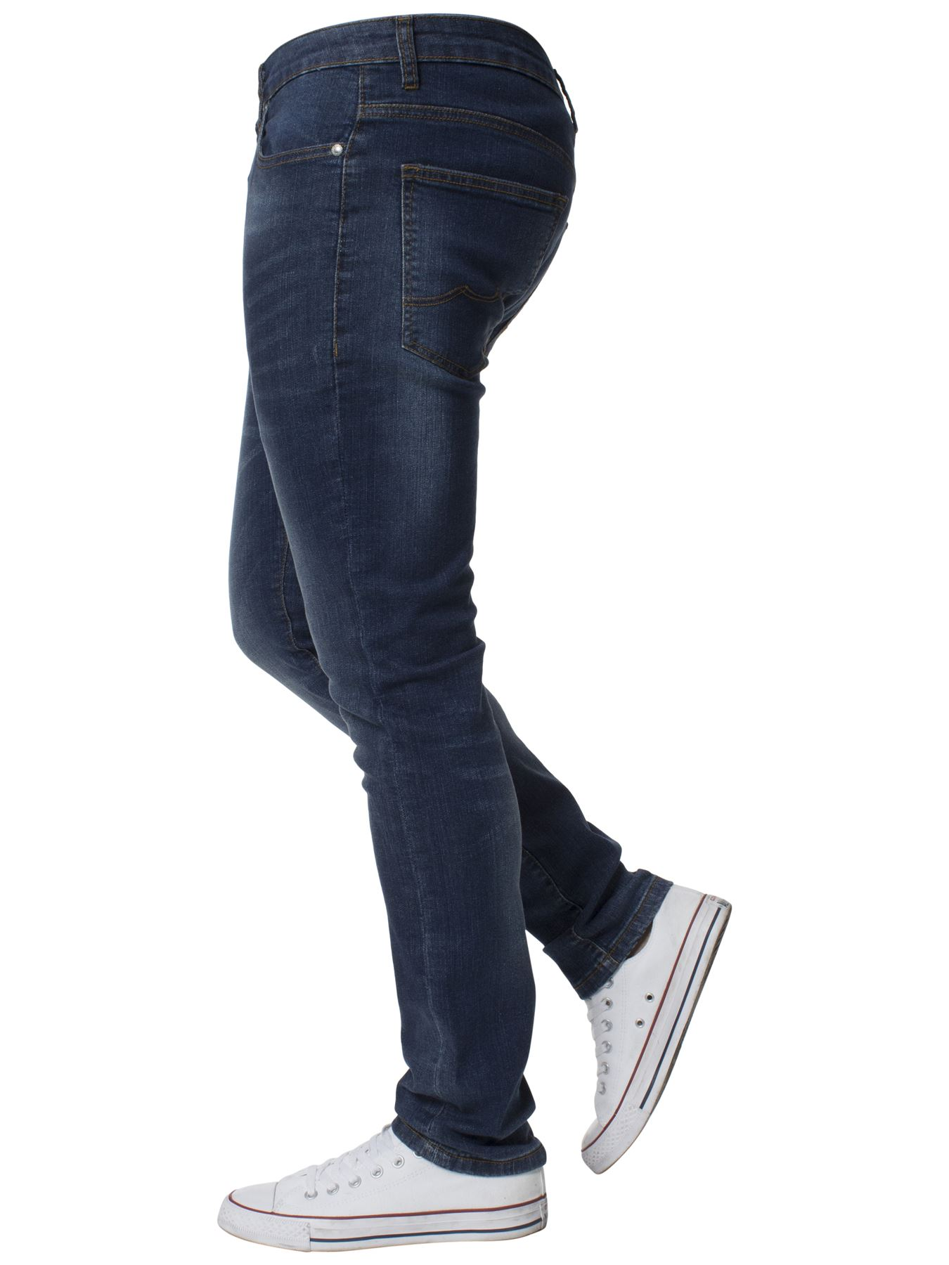 Mens-Skinny-Stretch-Jeans-Slim-Fit-Flex-Denim-Trousers-Pants-King-Sizes-by-Kruze thumbnail 13