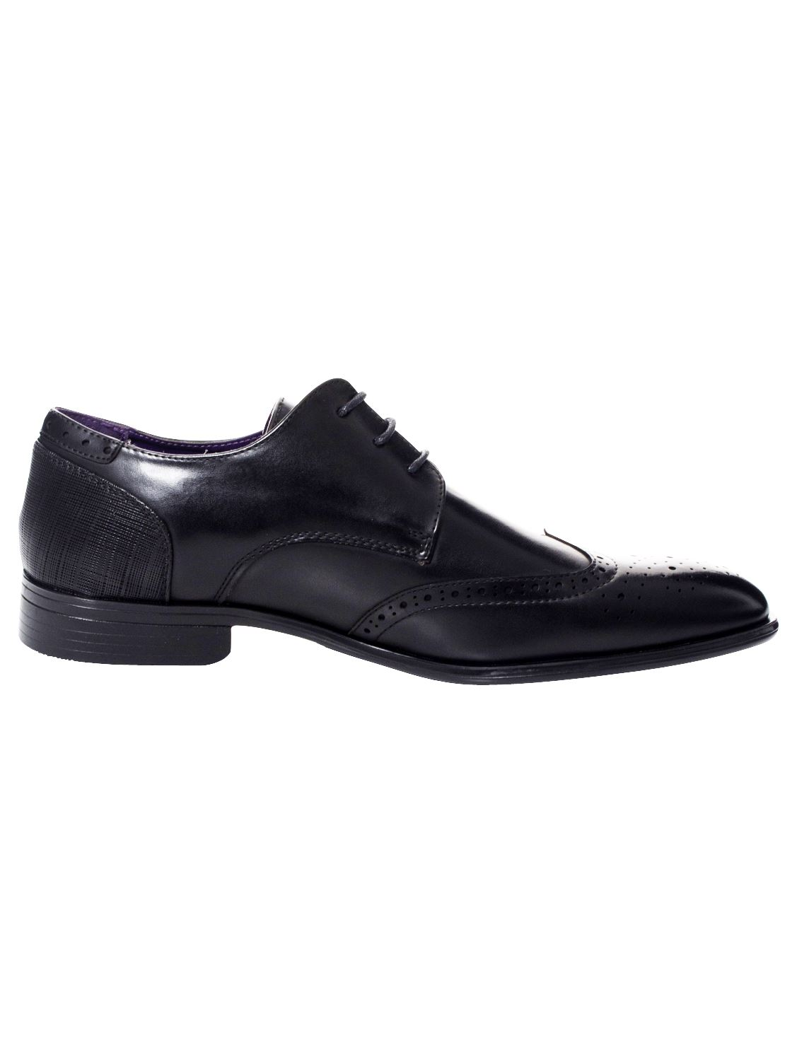 Mens-Faux-Leather-Shoes-Smart-Formal-Wedding-Office-Lace-Up-Designer-Brogues thumbnail 18