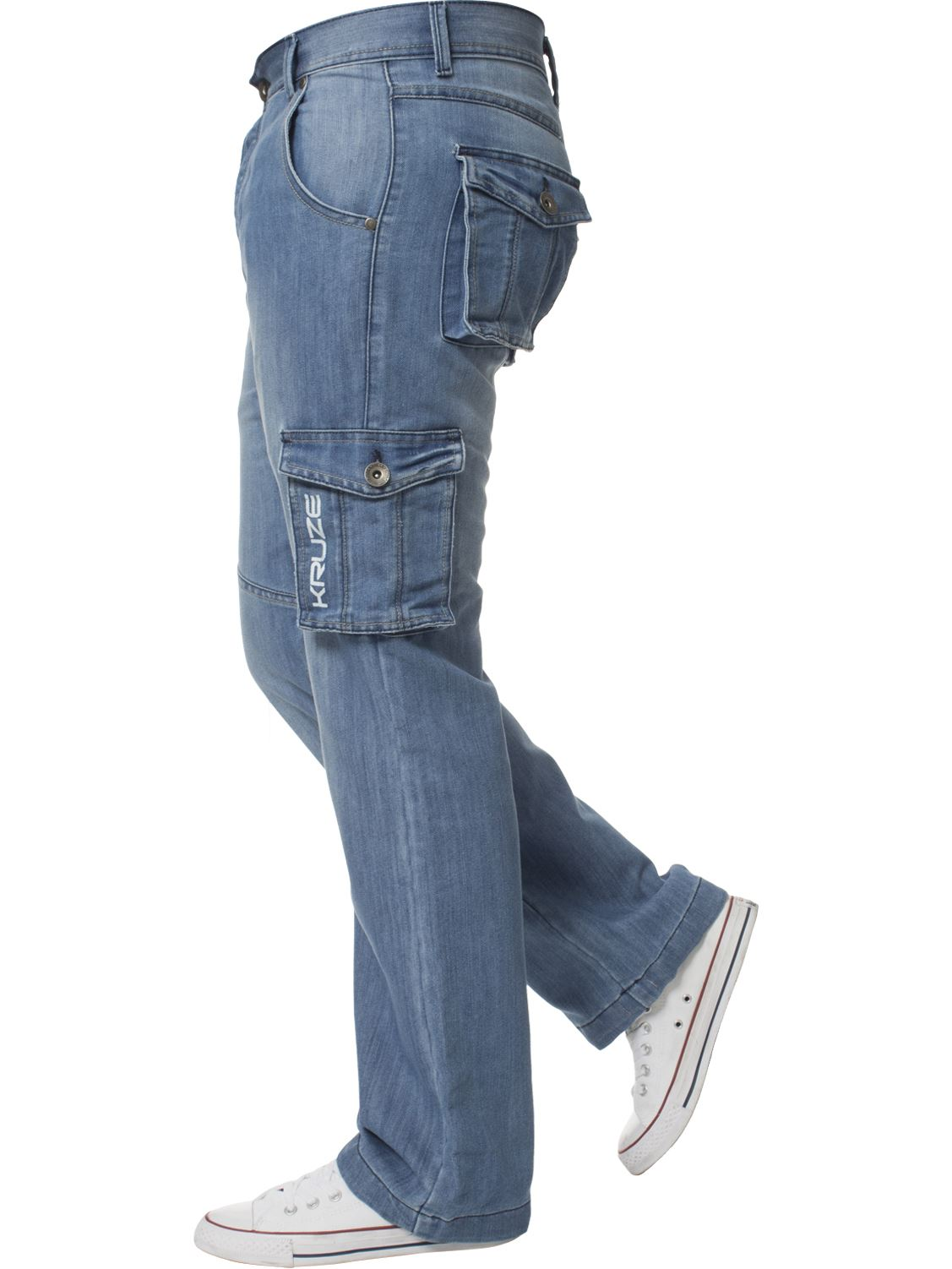 Mens-Cargo-Jeans-Combat-Trousers-Heavy-Duty-Work-Casual-Big-Tall-Denim-Pants thumbnail 78