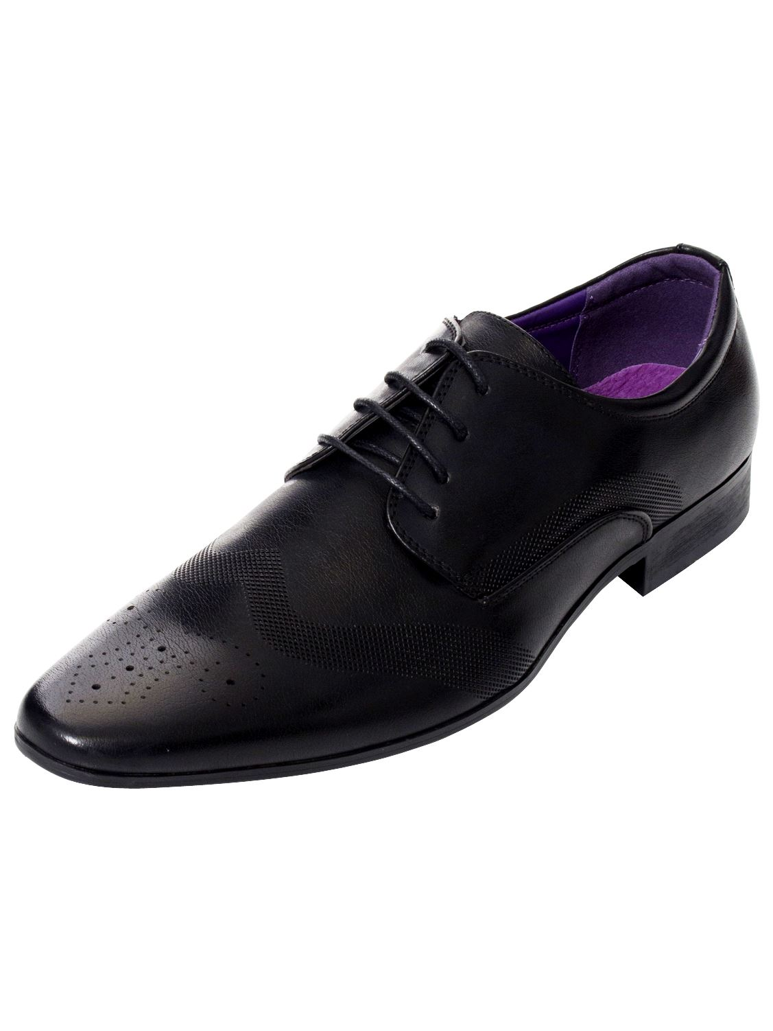 Mens-Faux-Leather-Shoes-Smart-Formal-Wedding-Office-Lace-Up-Designer-Brogues thumbnail 3