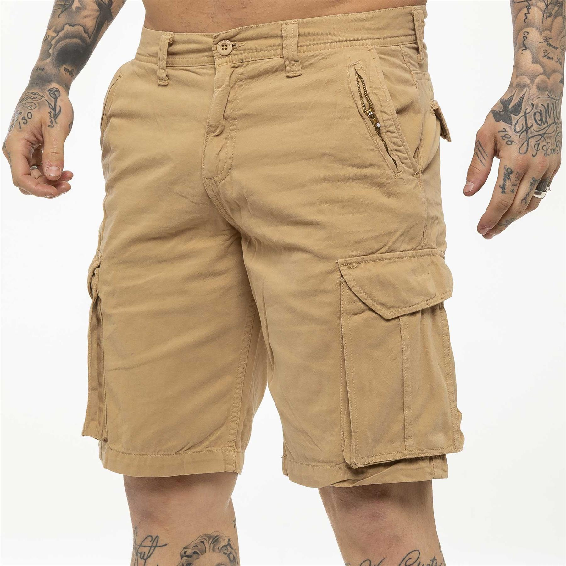 thumbnail 31 - Kruze Jeans Mens Army Combat Shorts Camouflage Cargo Casual Camo Work Half Pants
