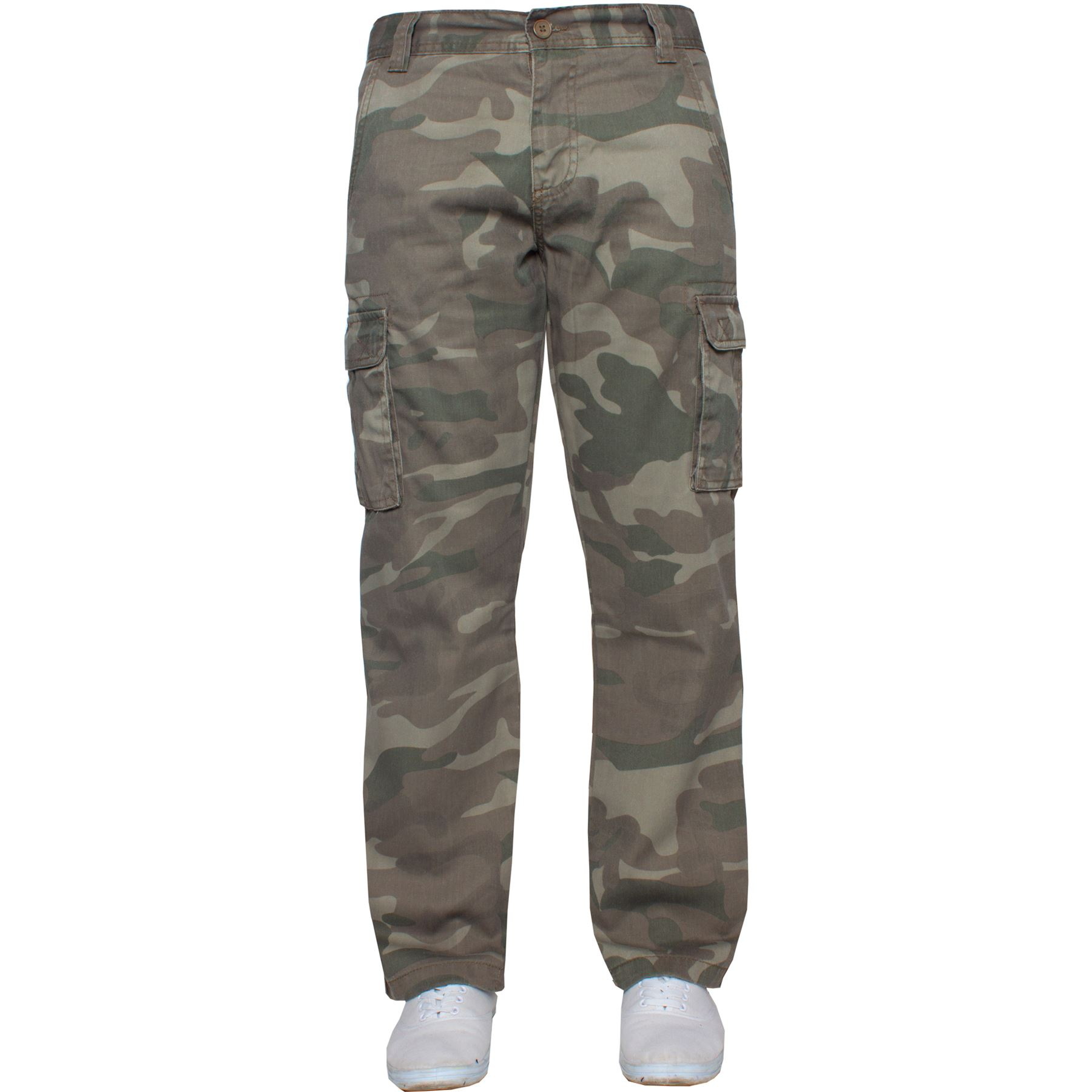Kruze-Mens-Military-Combat-Trousers-Camouflage-Cargo-Camo-Army-Casual-Work-Pants miniatura 28