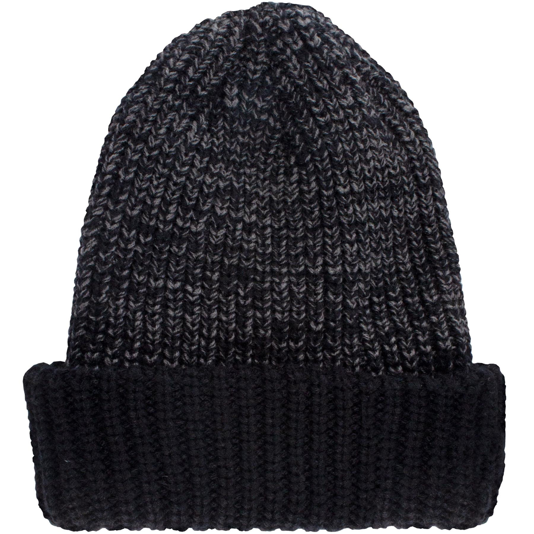 Mens Knitted Hat Thermal Insulated Warm Winter WoolyOutdoor Chunky Beanie BlacK