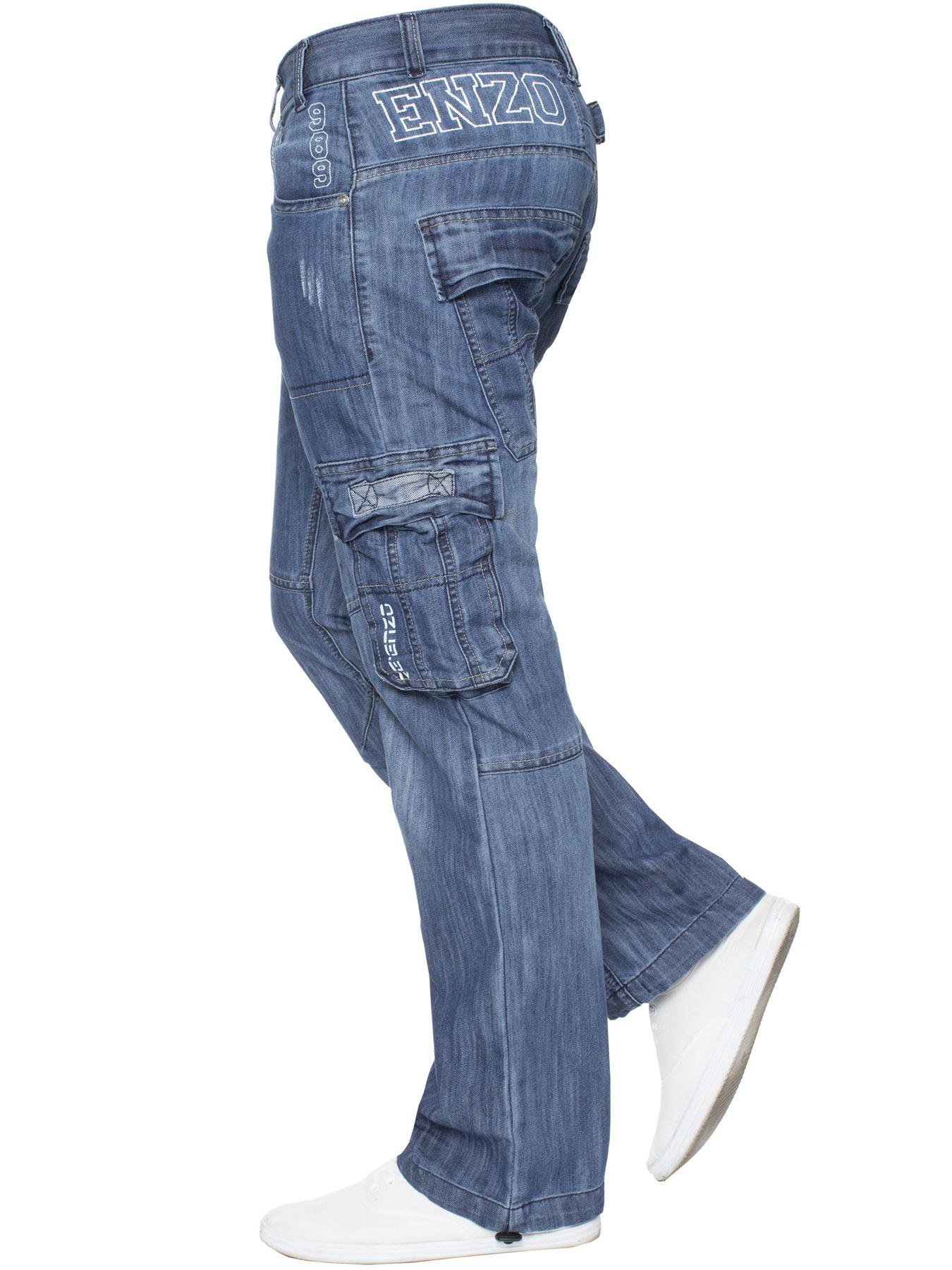 Jeans-Para-Hombre-de-carga-de-combate-pesado-Pantalones-de-trabajo-pantalones-de-mezclilla-Big-King miniatura 13